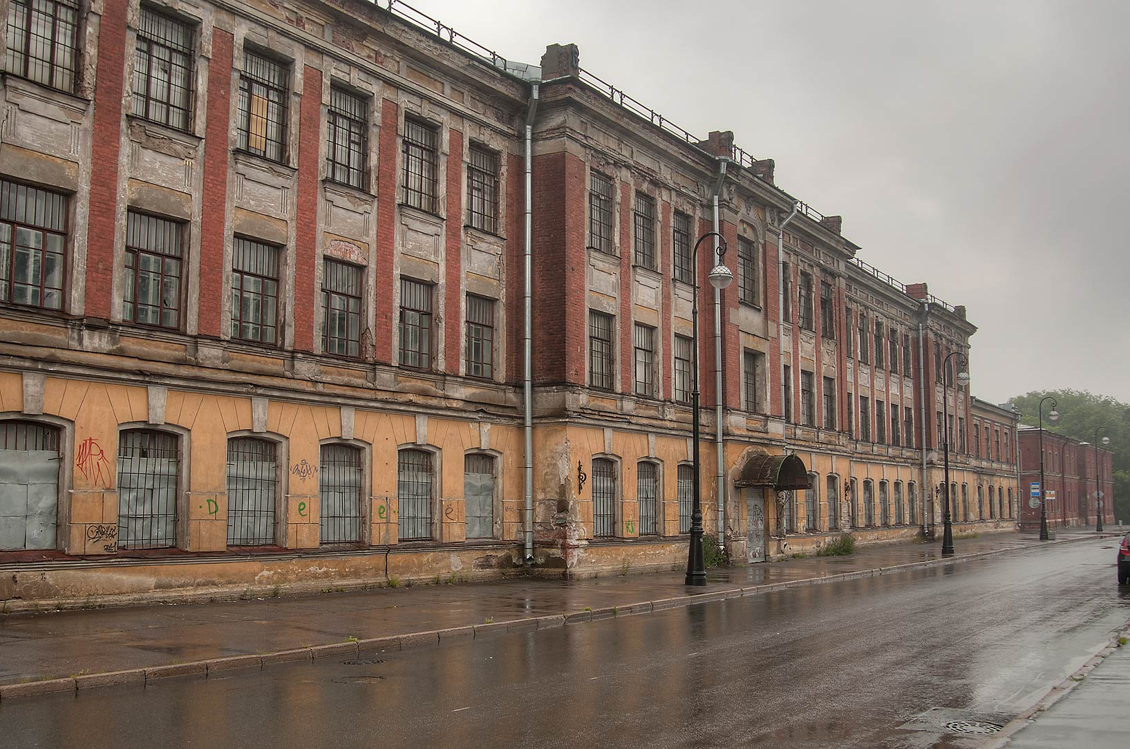 Mine School of Baltic Fleet at 31 Komsomola St...in Kronstadt. St.Petersburg, Russia
