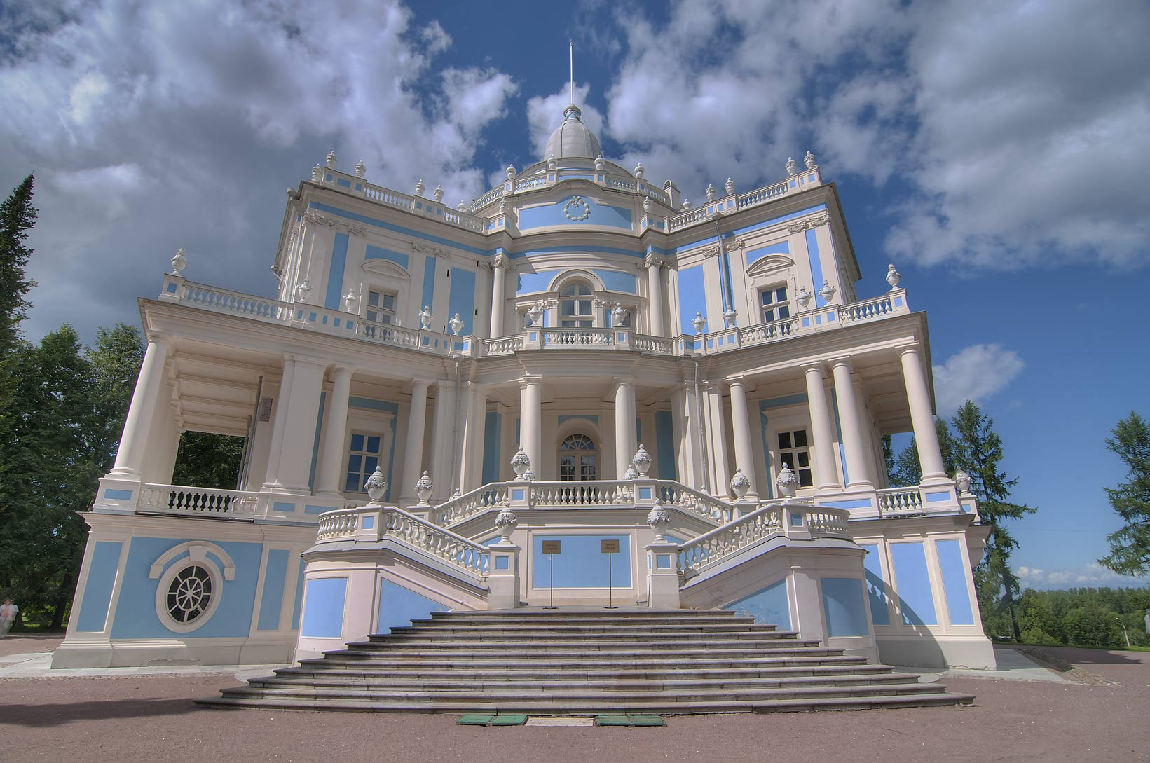 Pavilion Katalnaya Gorka in the park. Oranienbaum...miles west from St.Petersburg, Russia