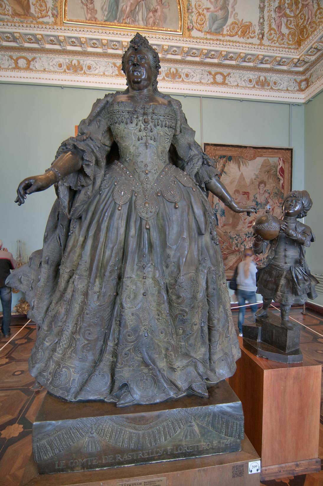 Statue of Catherine the Great in Russian Museum. St.Petersburg, Russia