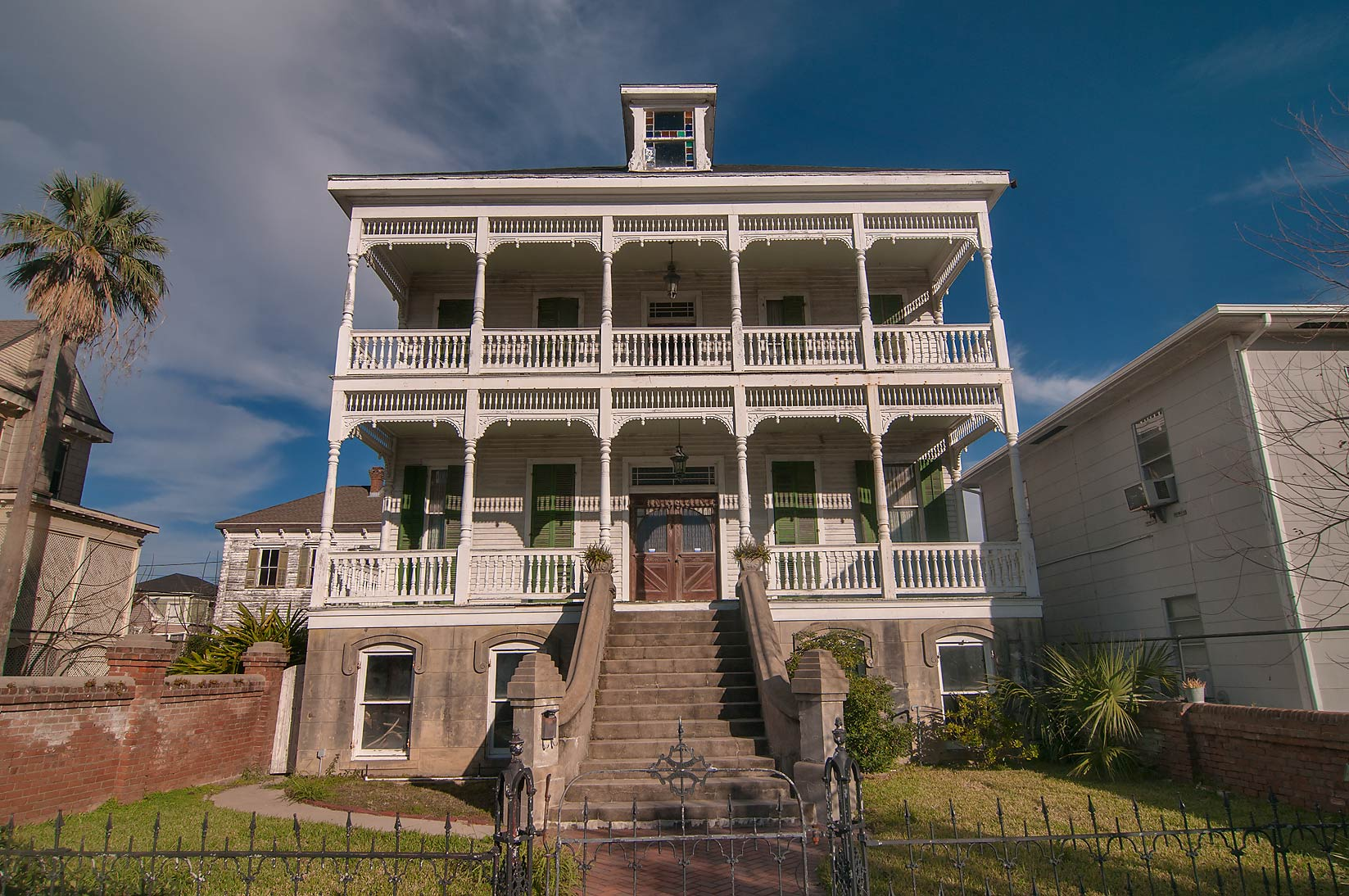 A house at 1718 Sealy St. in East End Historic District. Galveston, Texas