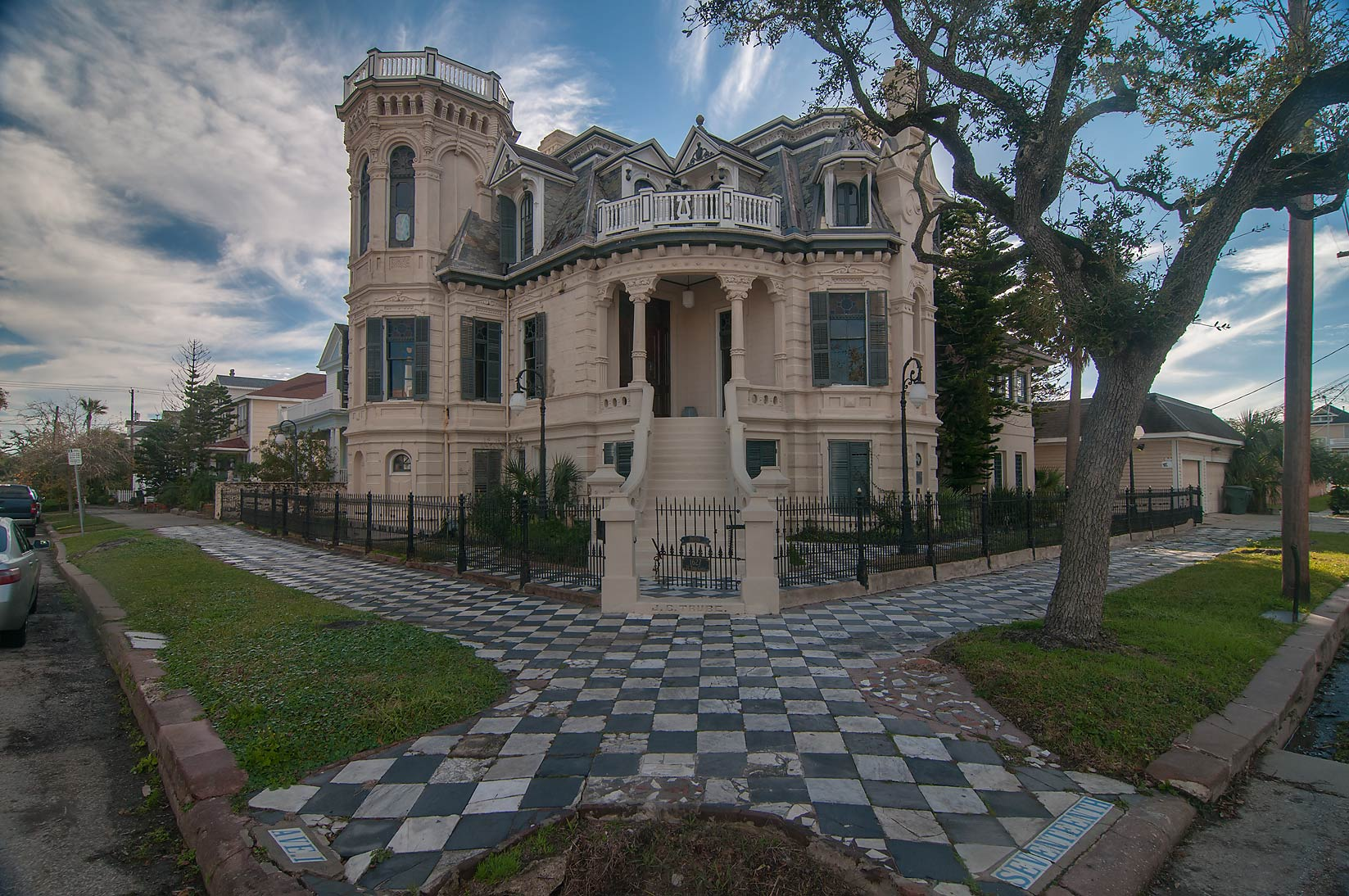 Trube Castle (1890) at 1627 Sealy St., a corner...Historic District. Galveston, Texas