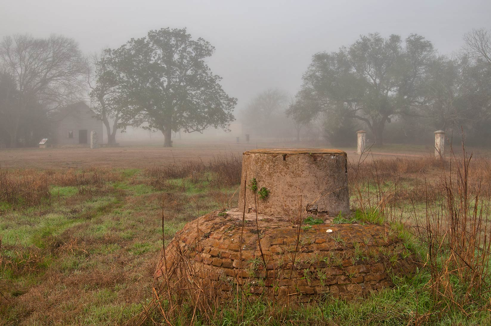 Old water cistern in Washington-on-the-Brazos State Historic Site. Washington, Texas
