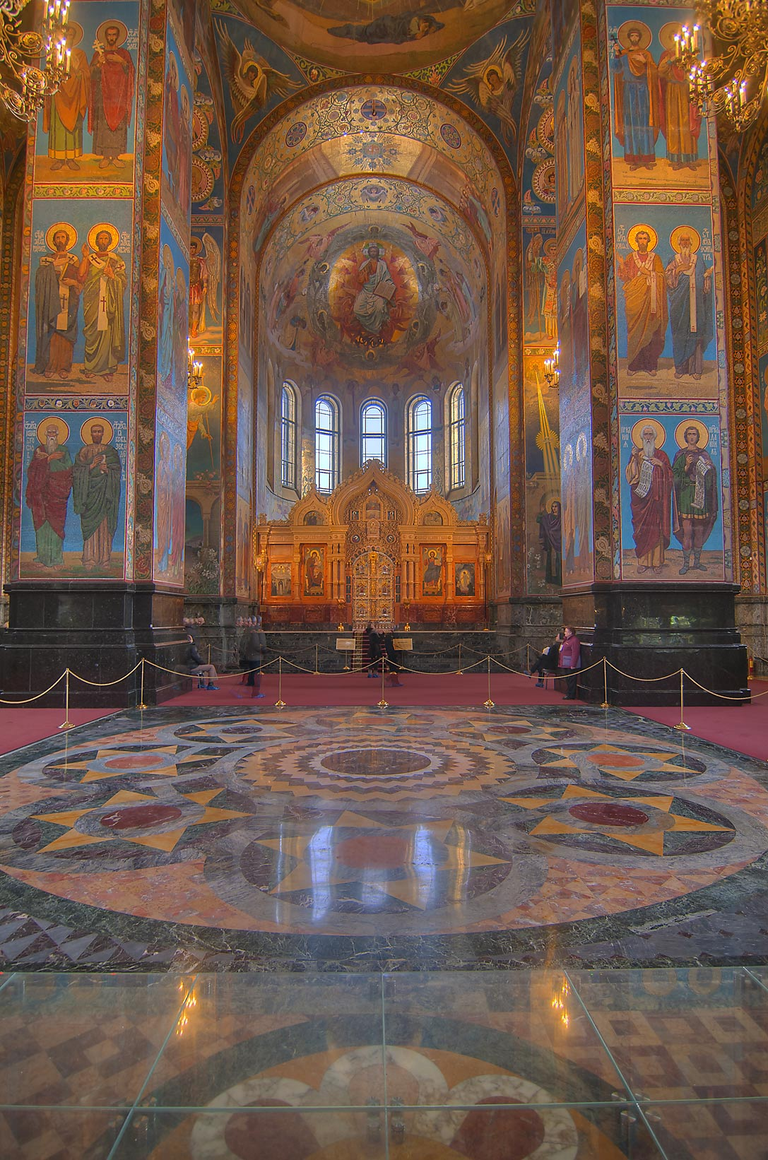 Decorations of Church of Savior on Blood. St.Petersburg, Russia