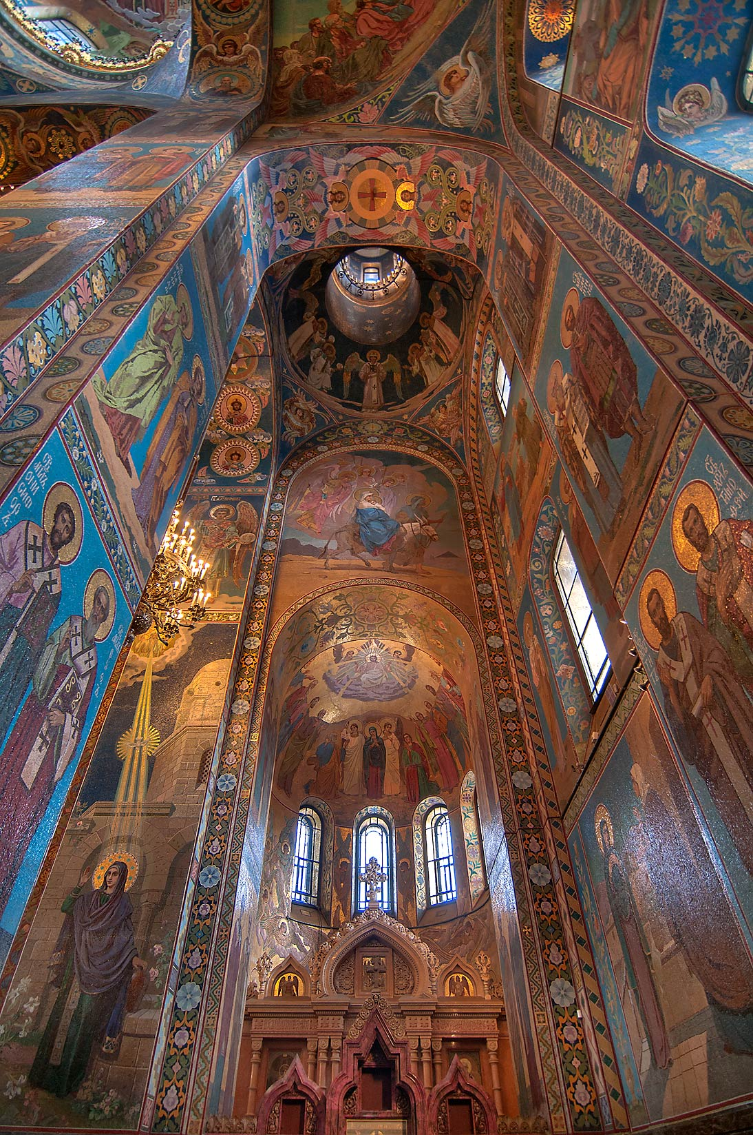 Mosaic vaults of Church of Savior on Blood. St.Petersburg, Russia