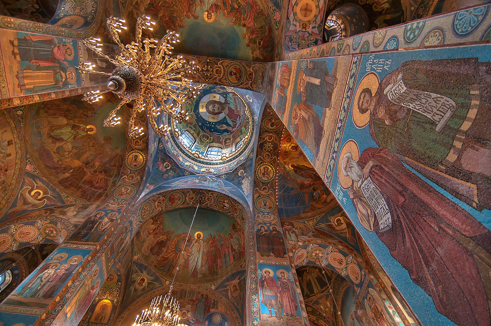 Columns of Church of Savior on Blood. St.Petersburg, Russia
