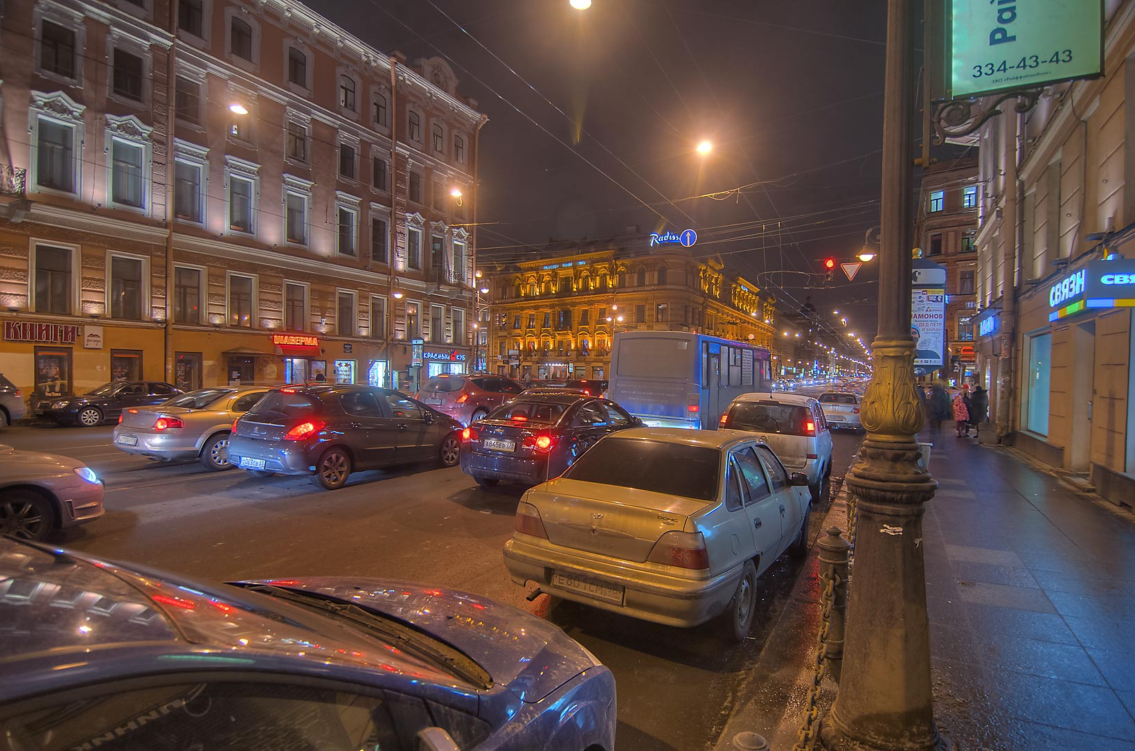 Liteyny Prospect at evening. St.Petersburg, Russia