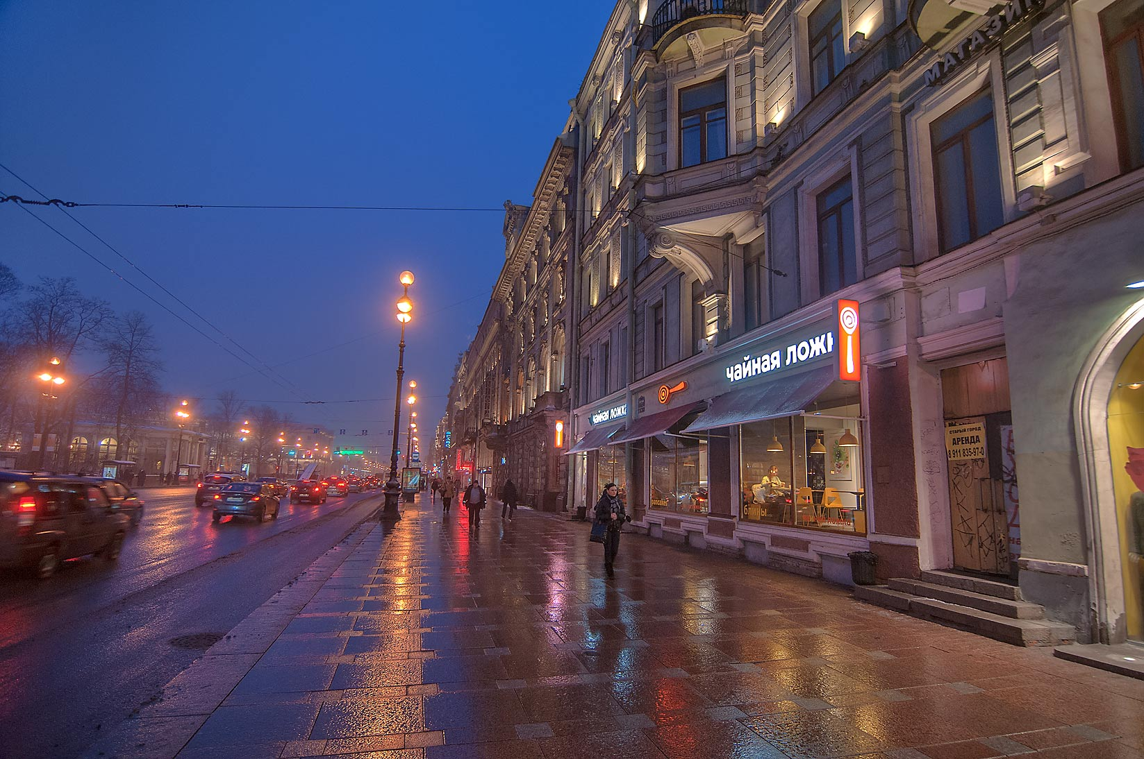 Nevsky Prospect at morning. St.Petersburg, Russia