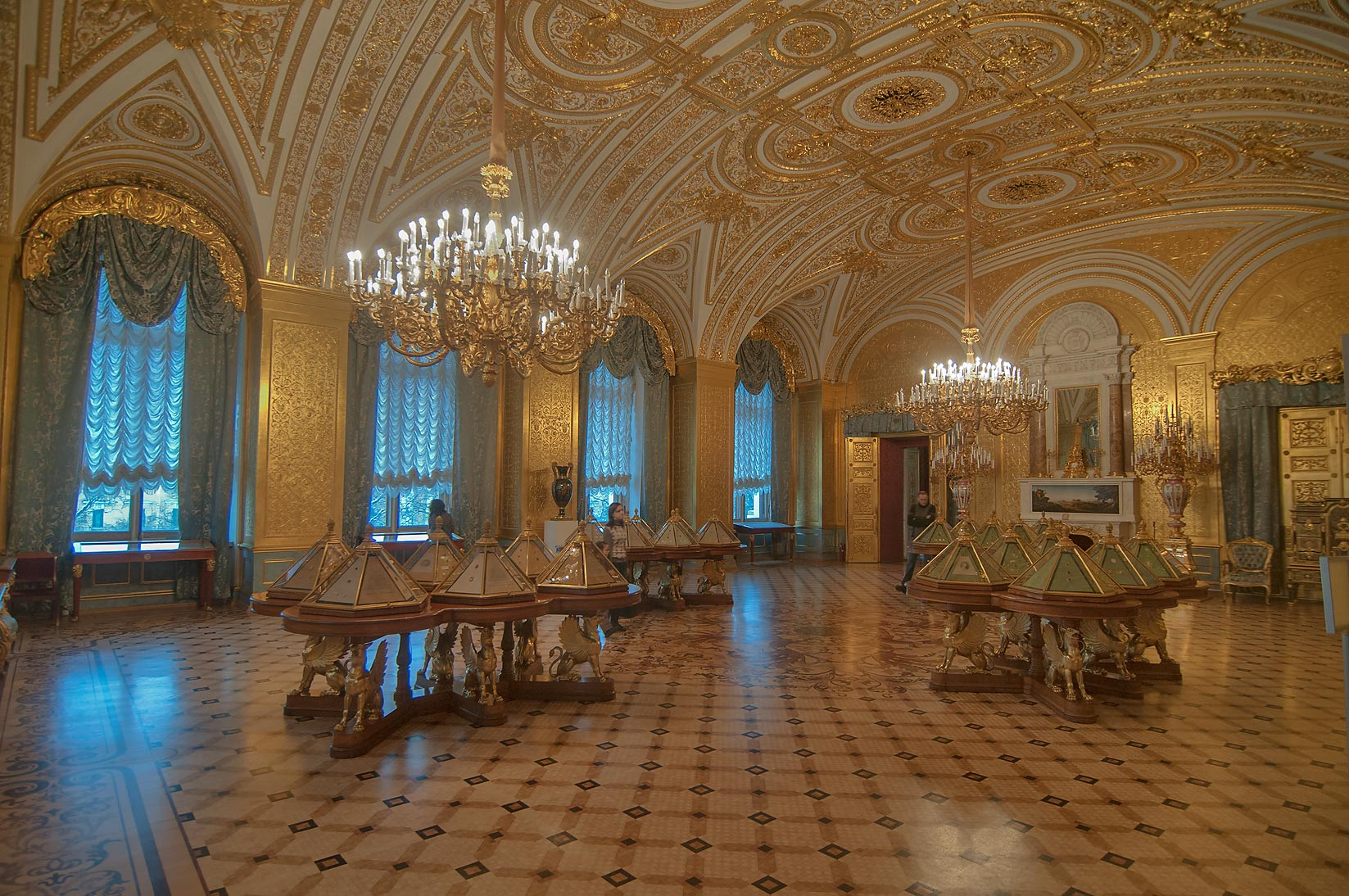 Gold Drawing-room in Hermitage Museum. St.Petersburg, Russia
