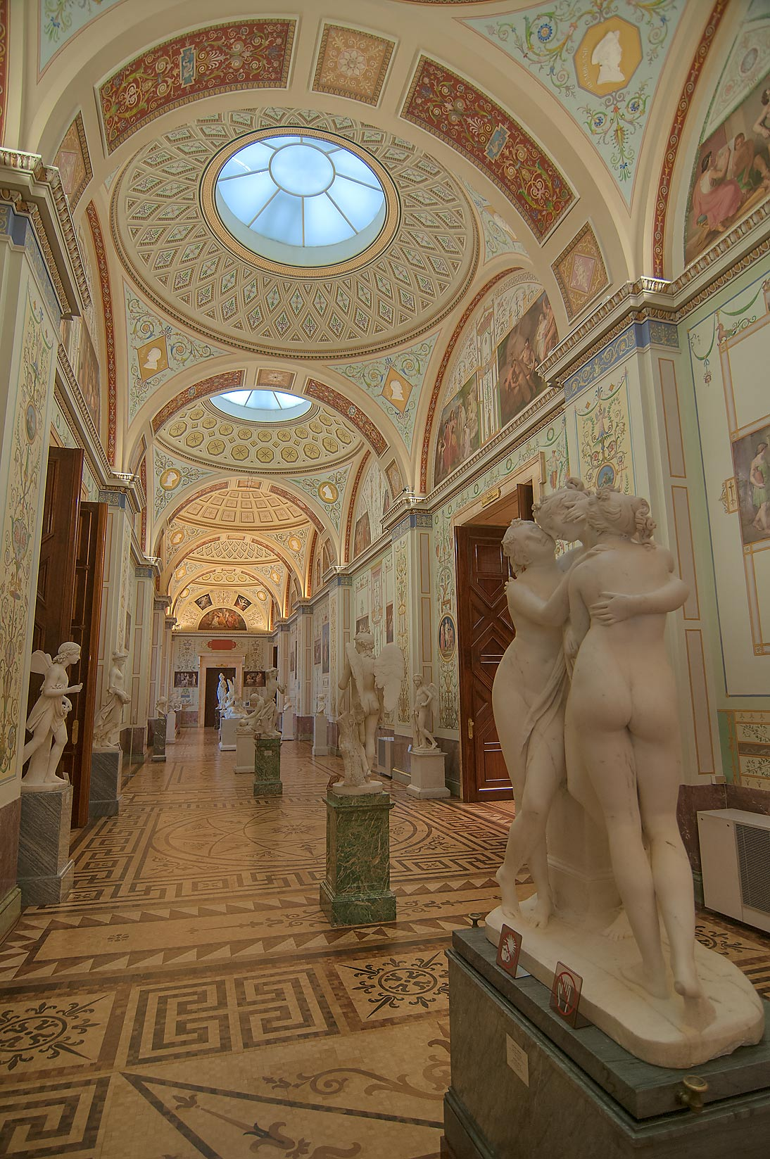 Gallery of the History of Ancient Painting in Hermitage Museum. St.Petersburg, Russia