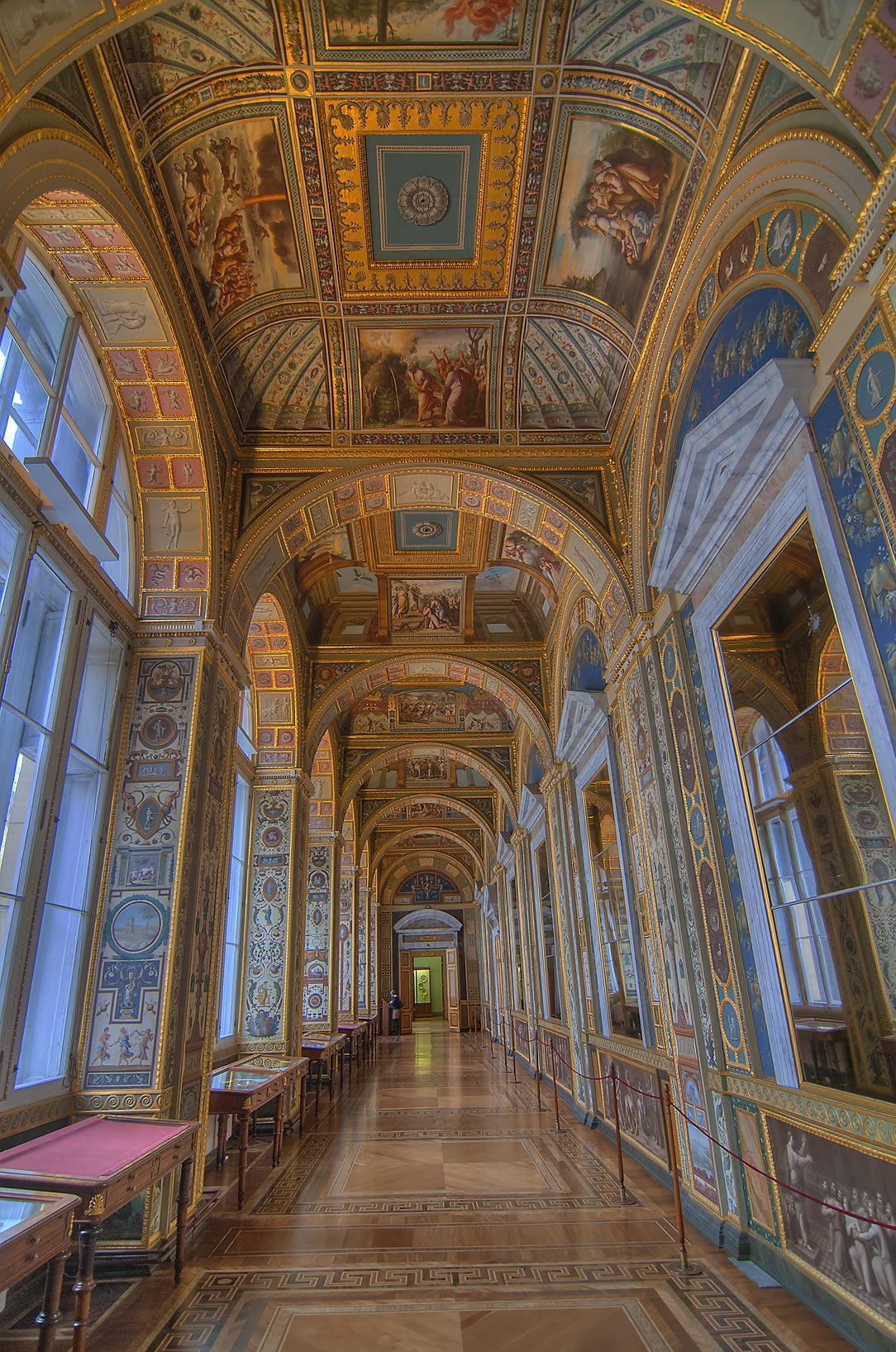 A copy of Raphael Loggias in Hermitage Museum. St.Petersburg, Russia