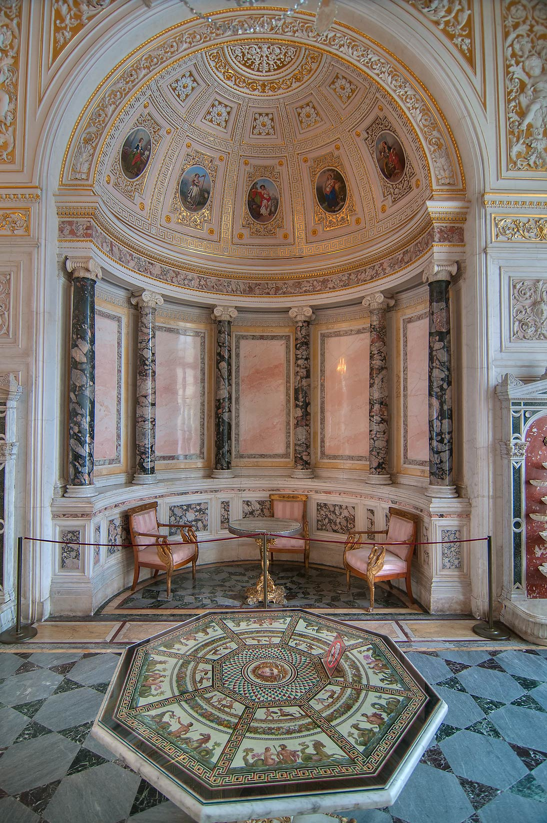 Niche in Pavilion Hall in Hermitage Museum. St.Petersburg, Russia