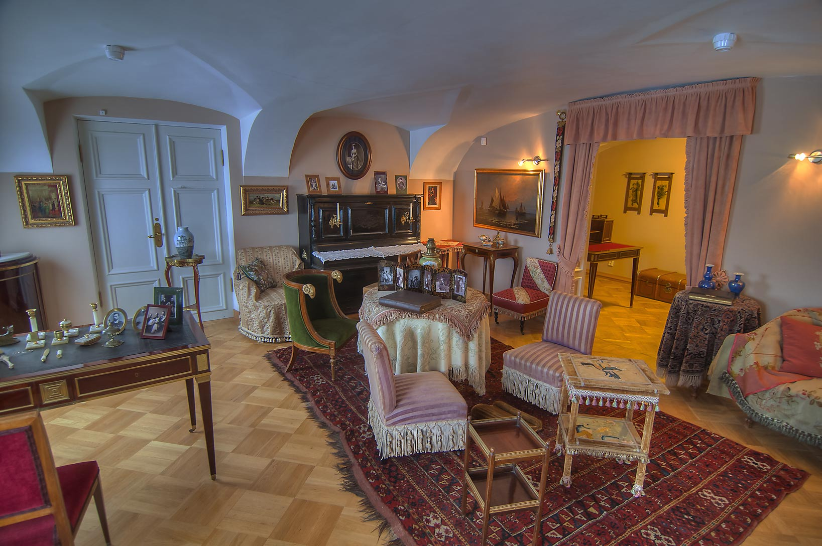Living room in Gatchina Palace. Gatchina, suburb of St.Petersburg, Russia