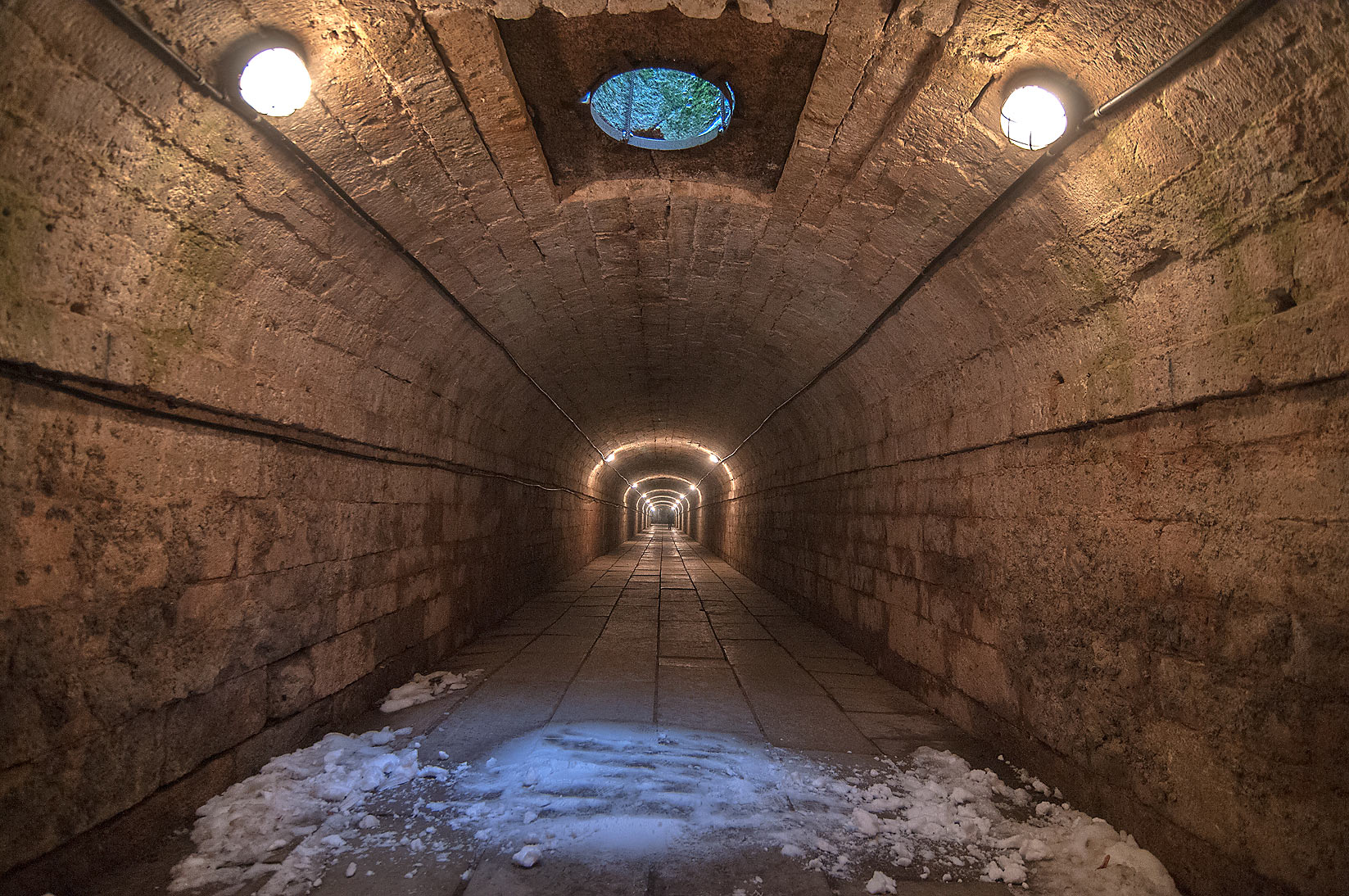 Underground tunnel connecting Gatchina Palace...suburb of St.Petersburg, Russia