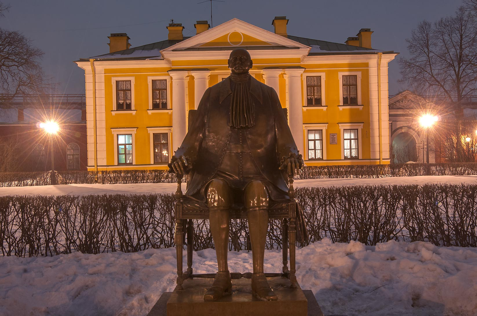 Peter the Great sculpture in Peter and Paul Fortress. St.Petersburg, Russia