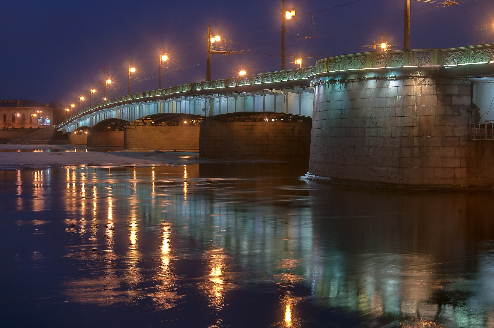 Liteyny Bridge at evening. St.Petersburg, Russia