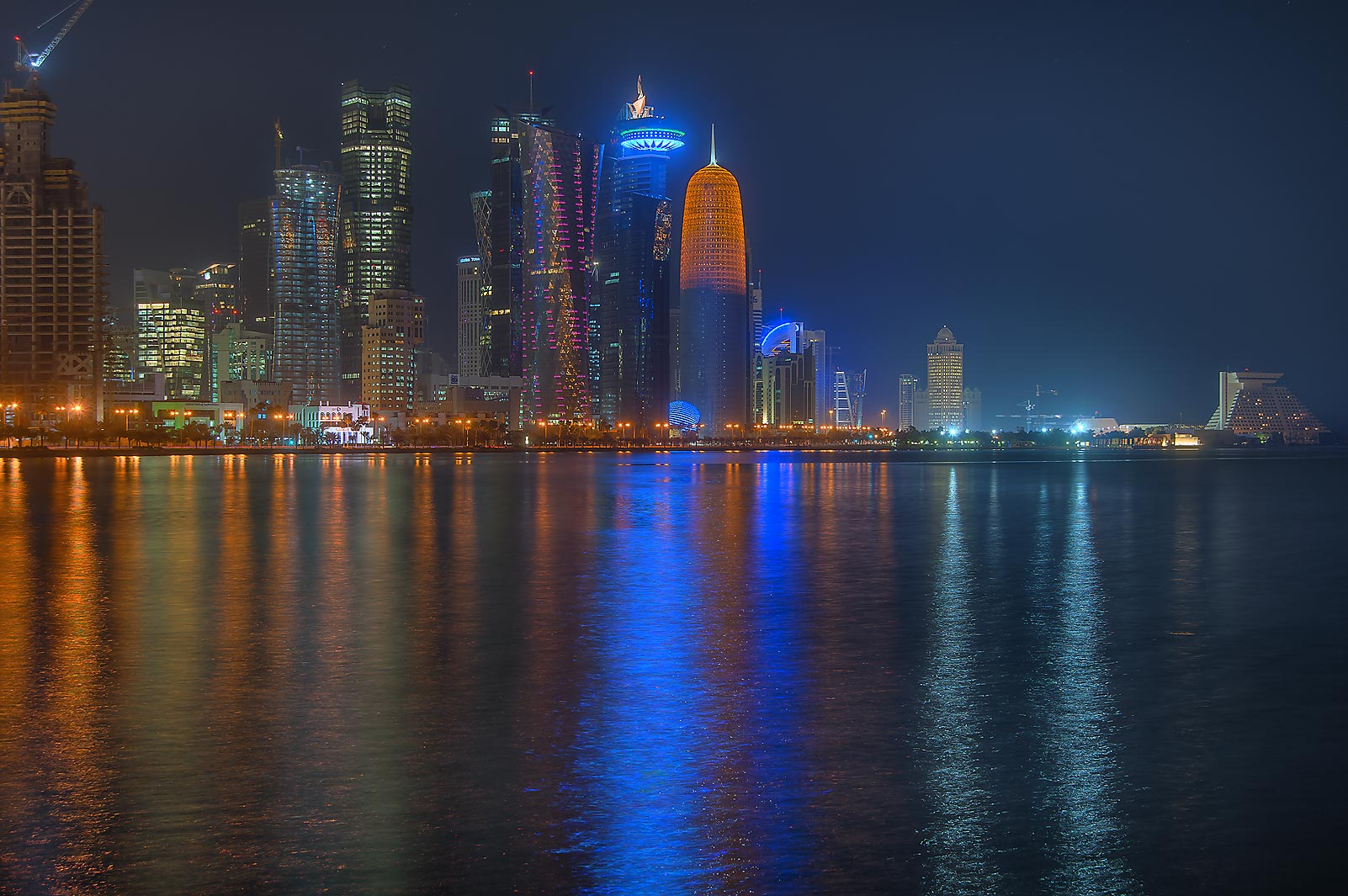 West Bay from Corniche, at morning. Doha, Qatar