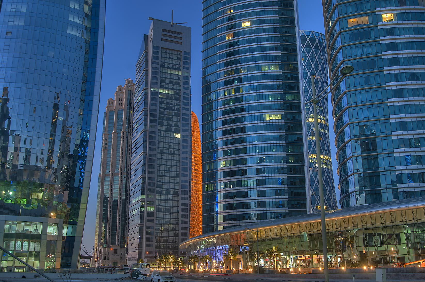 Area of Al Fardan Towers in West Bay. Doha, Qatar