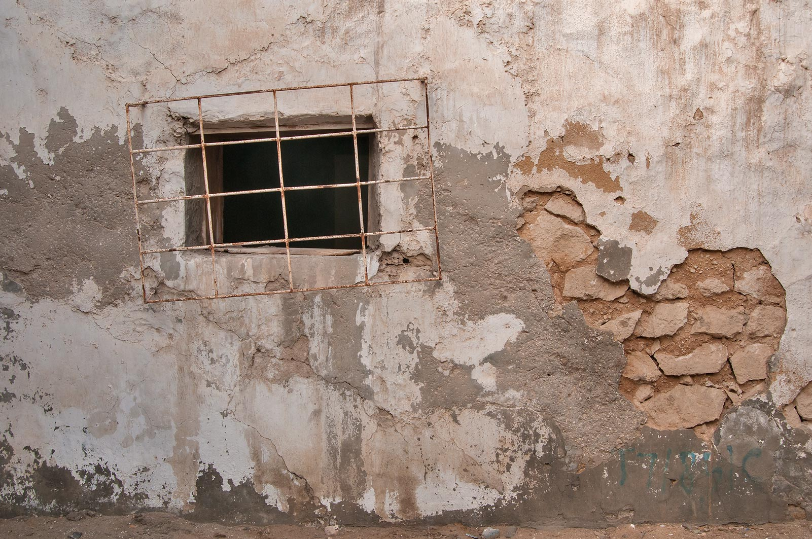 Window near Abdullah Bin Thani St., Musheirib area. Doha, Qatar