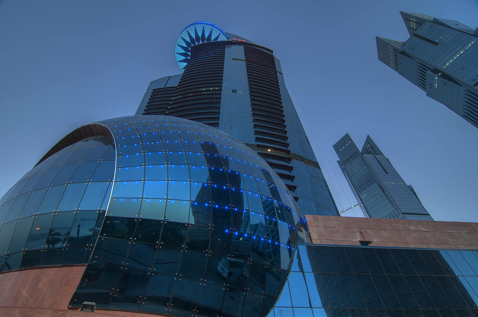 Trade Center in West Bay at morning. Doha, Qatar