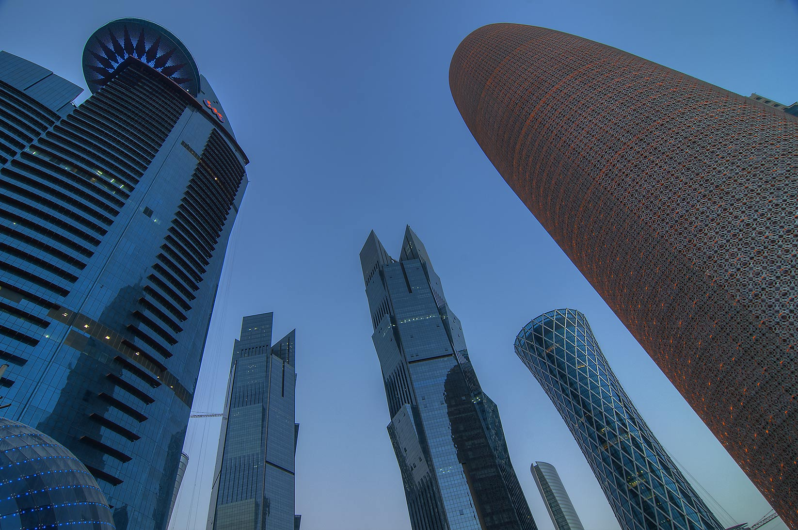 Towers in West Bay at morning. Doha, Qatar