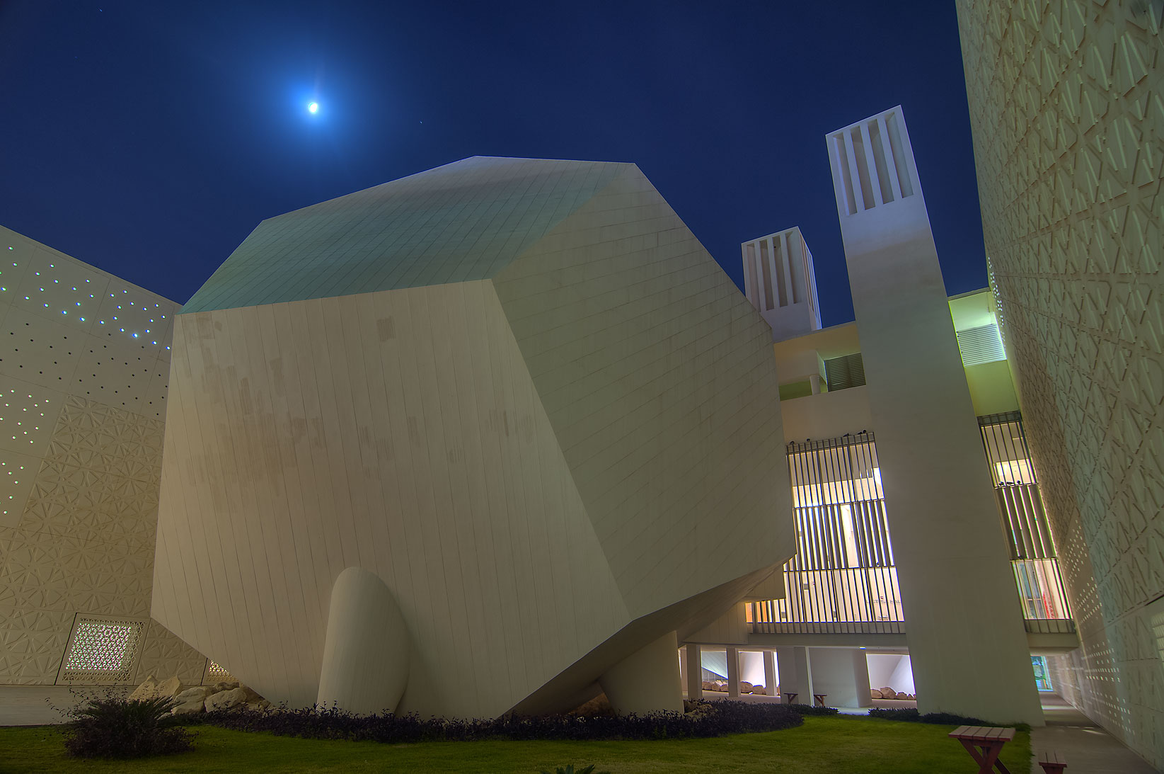 Dodecahedron lecture hall of Weill Cornell...City, Rayyan area. Doha, Qatar