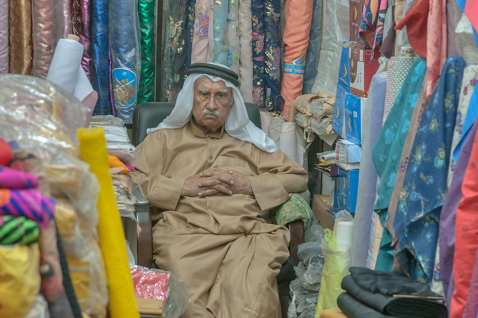 Textile shop in Souq Waqif (Old Market). Doha, Qatar