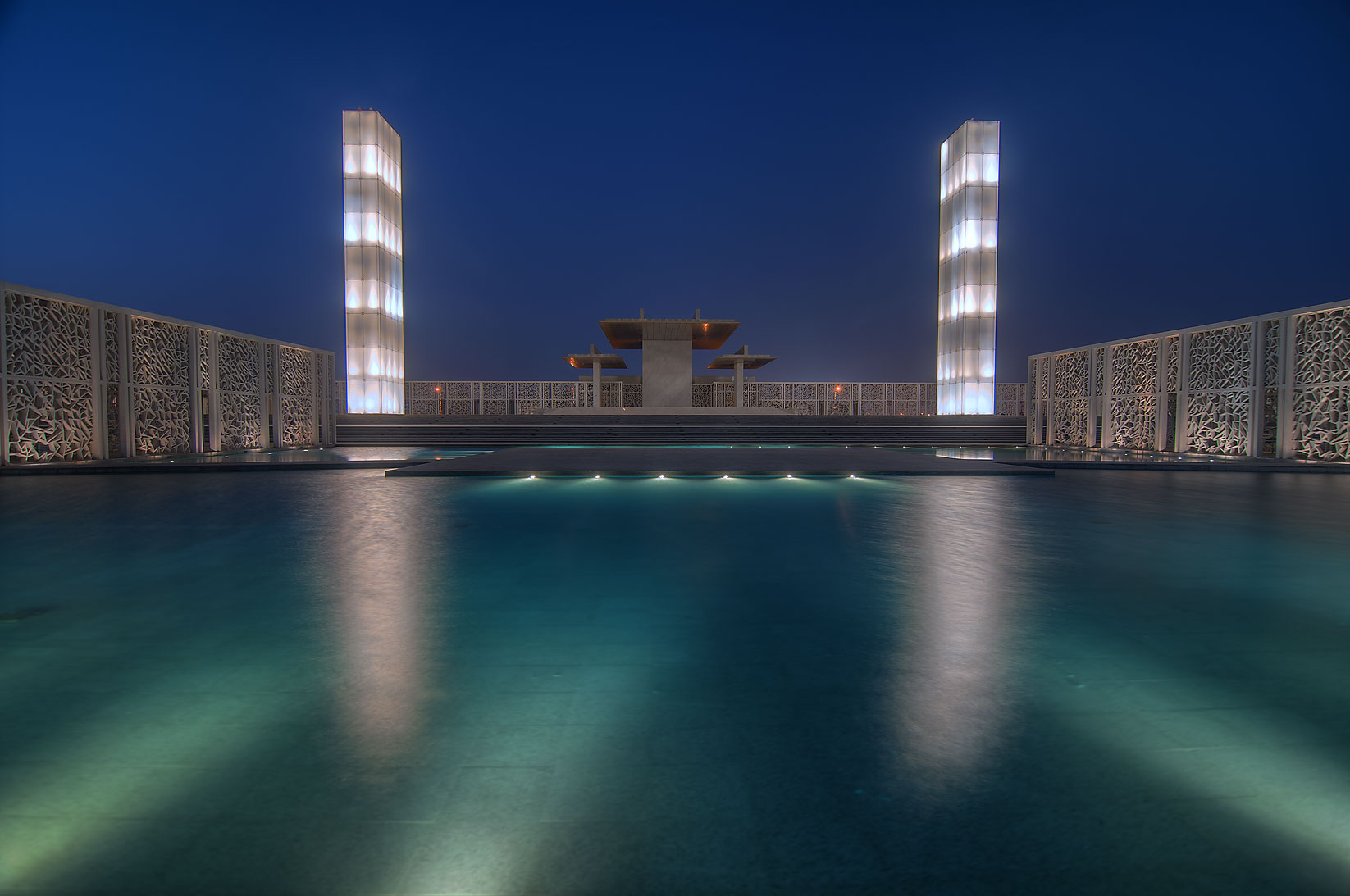 Ceremonial Court in Education City. Doha, Qatar