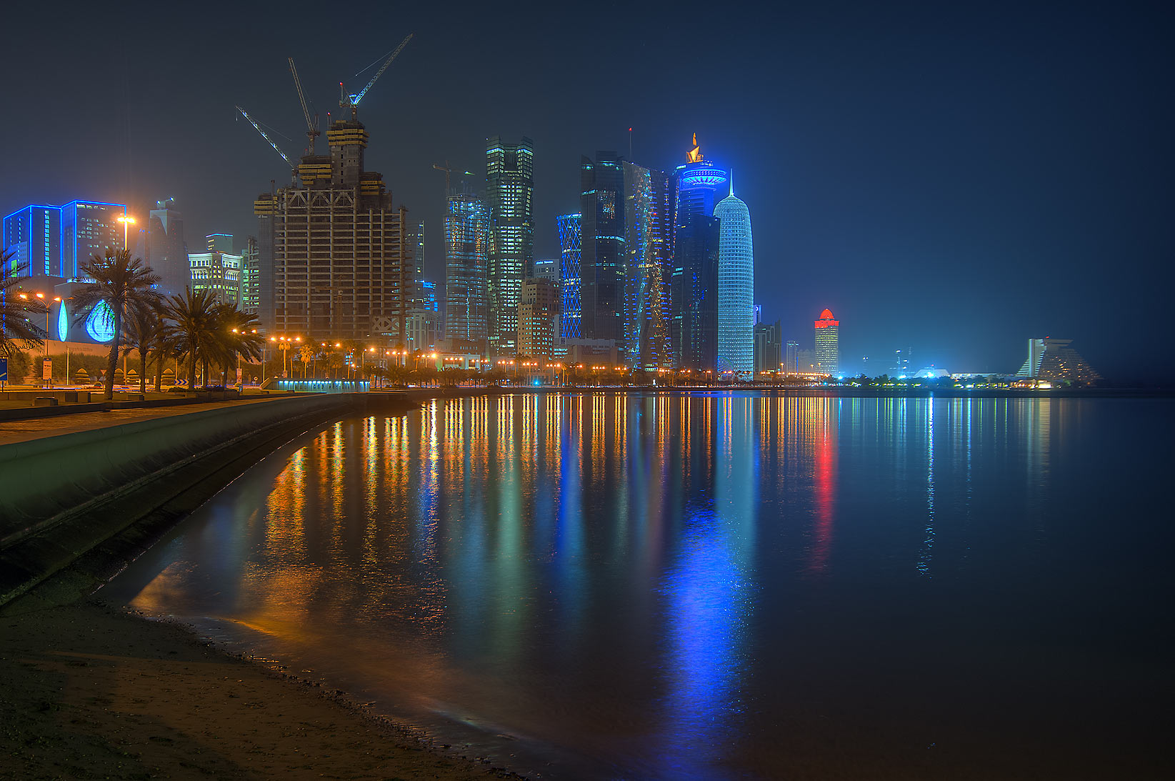 West Bay area from Corniche near Al Bidda (Rumeilah) Park. Doha, Qatar
