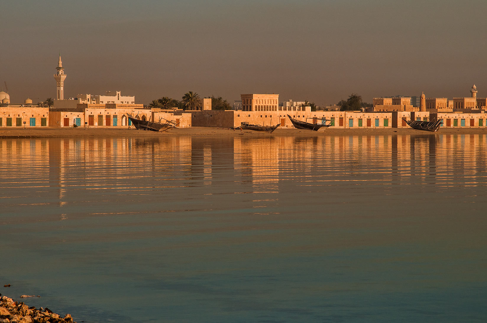 Restored historical village from a pier in Al Wakra. Qatar