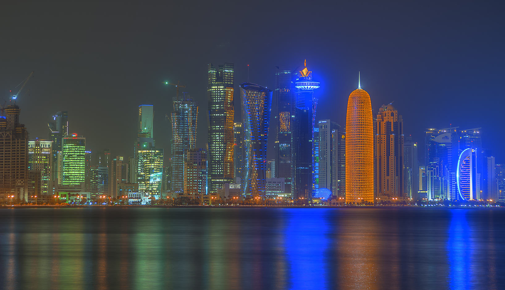 West Bay area from Corniche promenade. Doha, Qatar