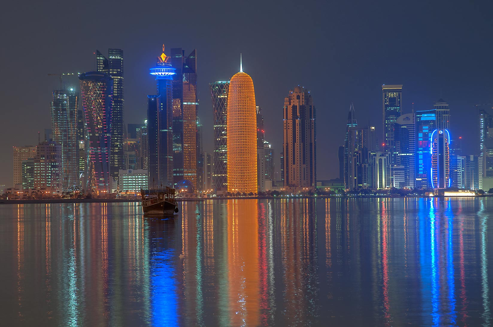 West Bay from Corniche promenade. Doha, Qatar