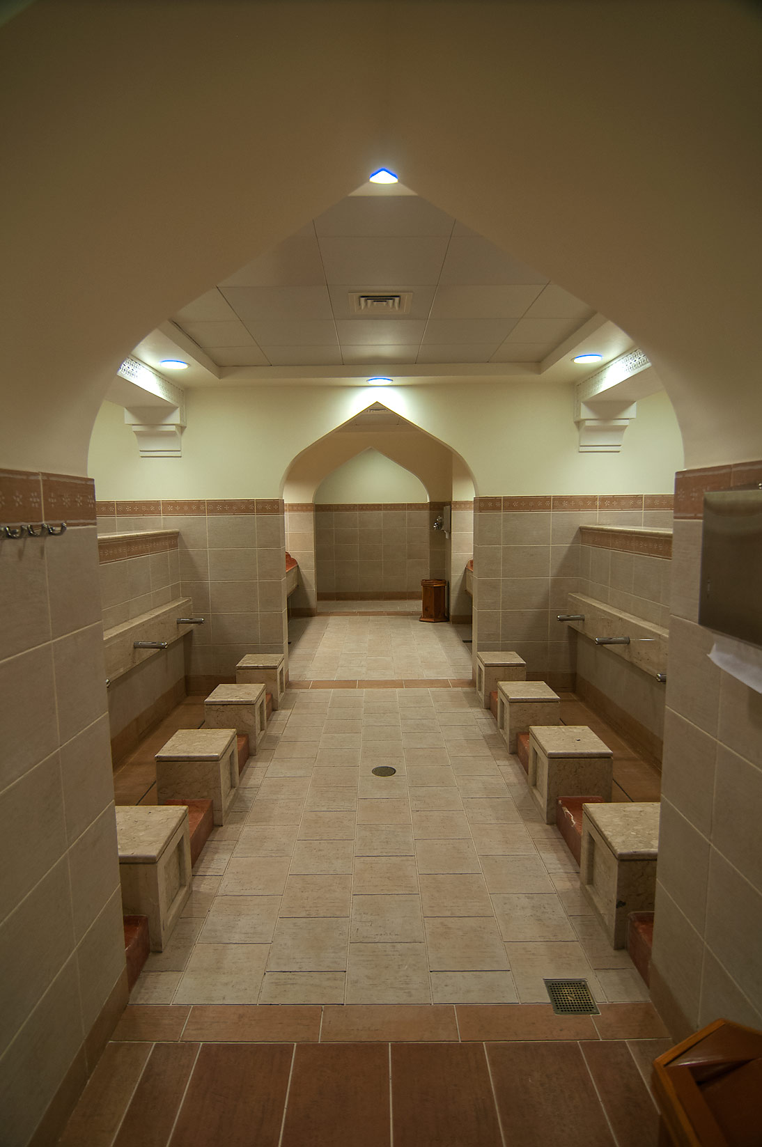Ablution room (ritual washing facilities) of...Ibn Abdul Wahhab Mosque). Doha, Qatar