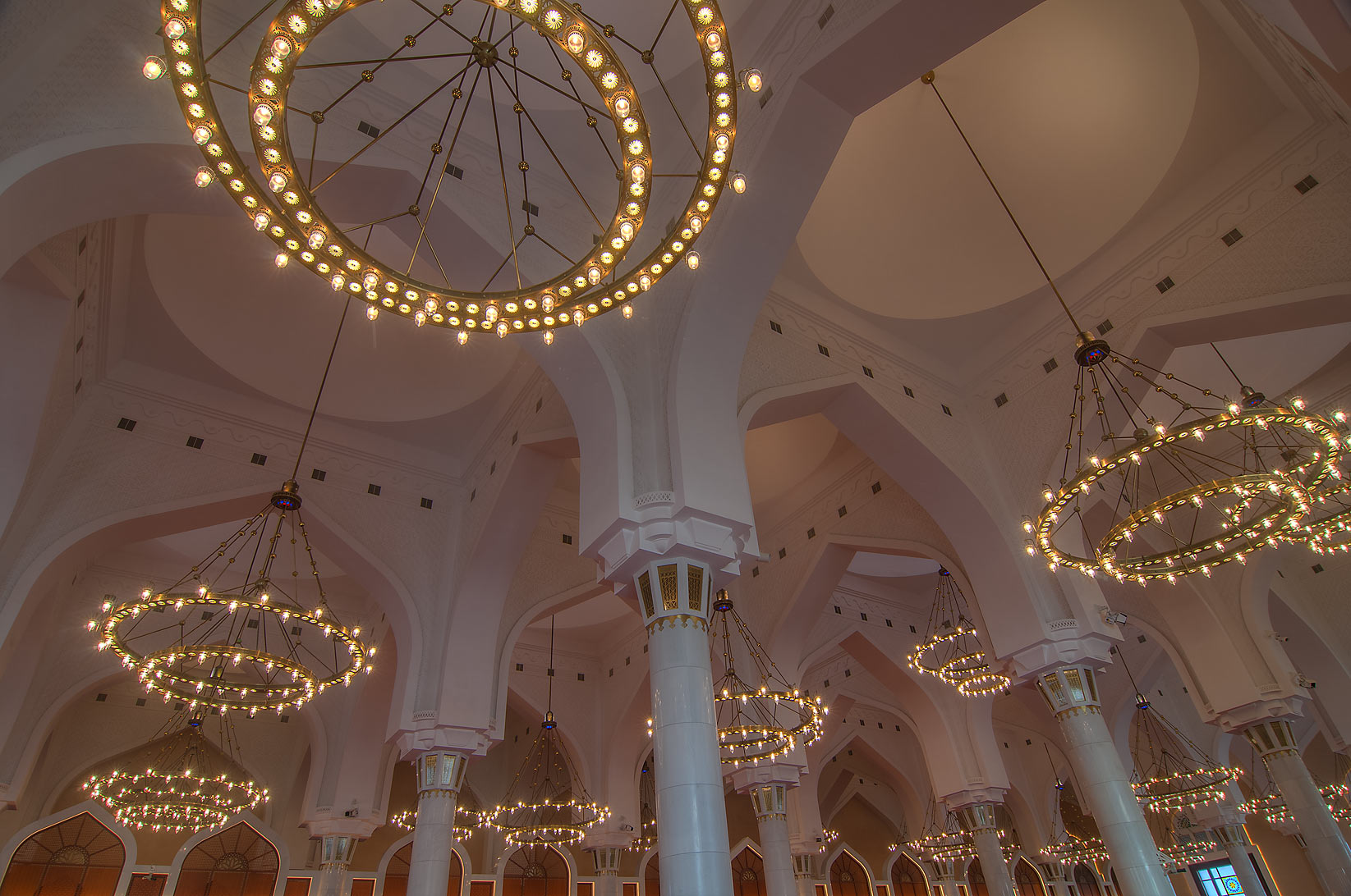 Vaulted prayer hall (musallah) inside State...Ibn Abdul Wahhab Mosque). Doha, Qatar