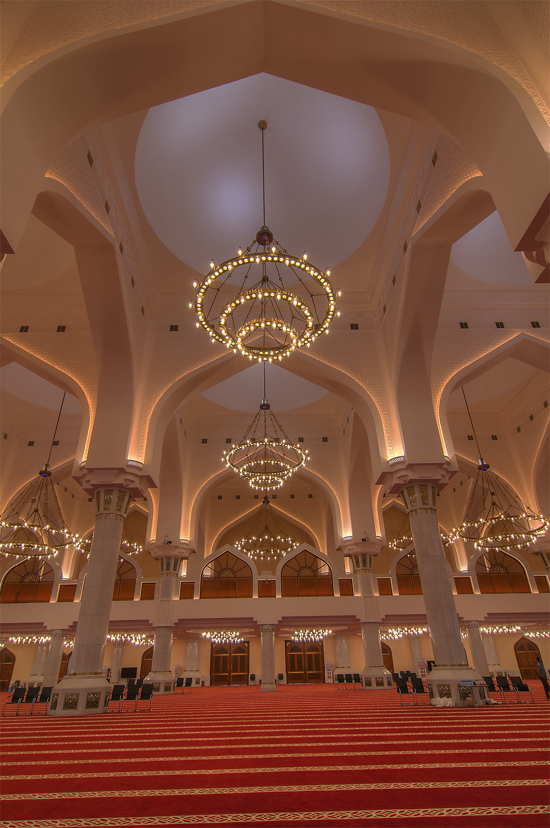 Hypostyle form of prayer hall (musallah) in State...Ibn Abdul Wahhab Mosque). Doha, Qatar
