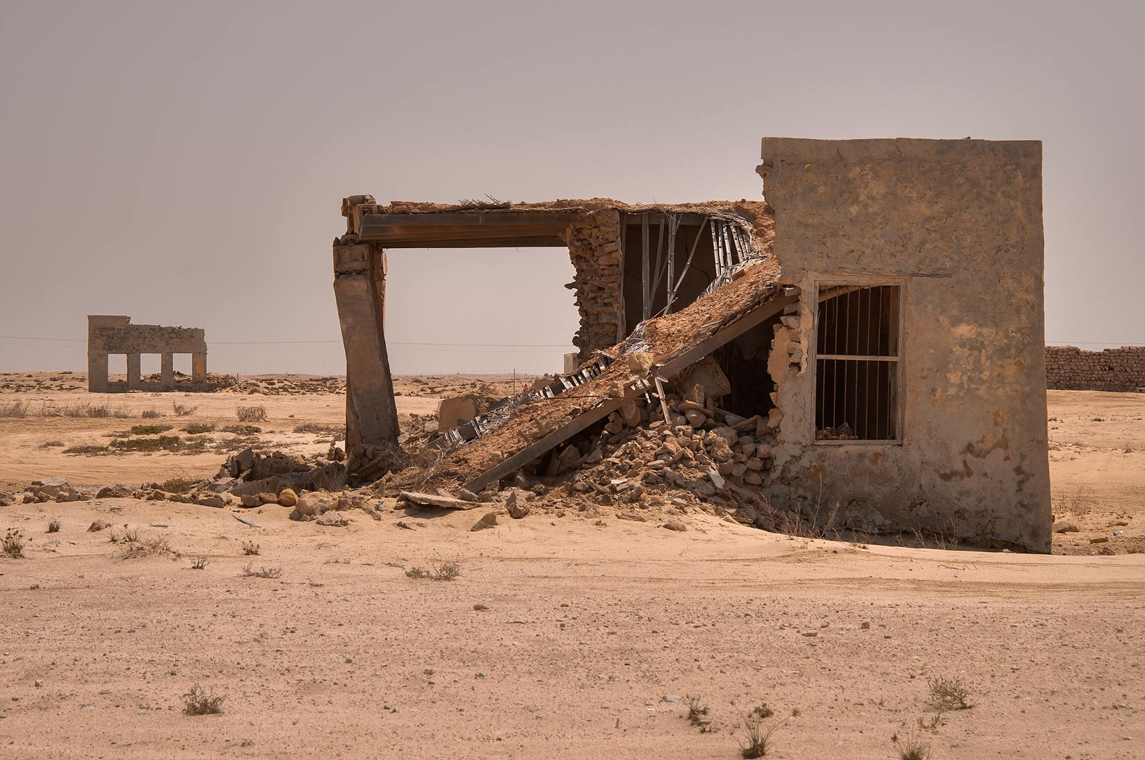 Ruins of Al Mafjar village, northern area near Ruwais. Qatar
