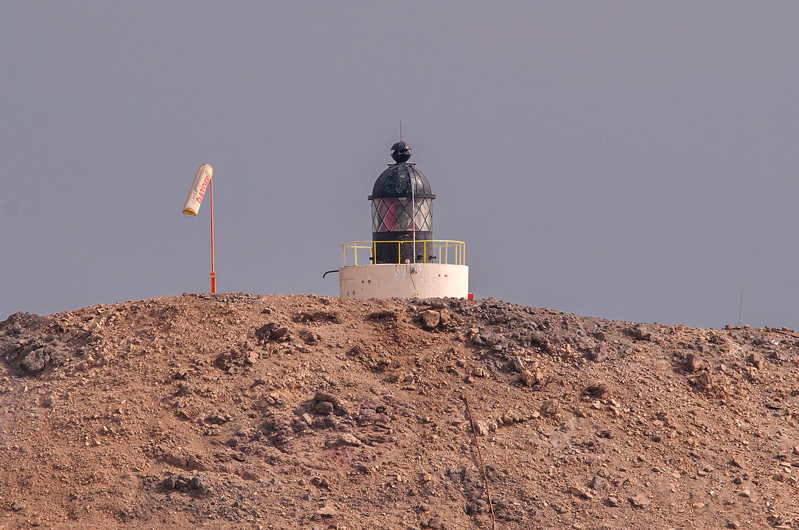 Haloul Island Lighthouse situated on the summit...west from oil tank installation. Qatar