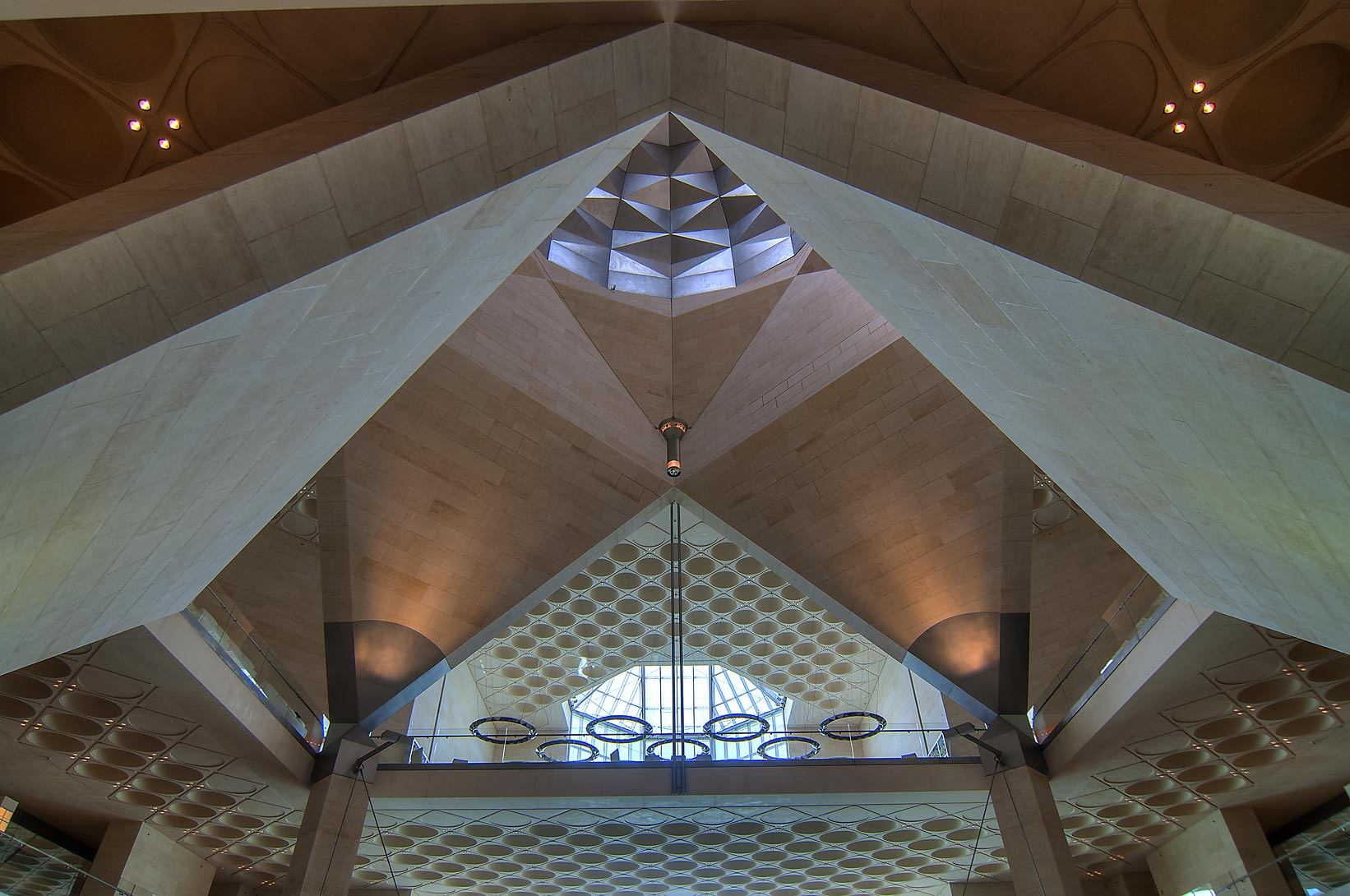 Perforated ceiling of Museum of Islamic Art. Doha, Qatar