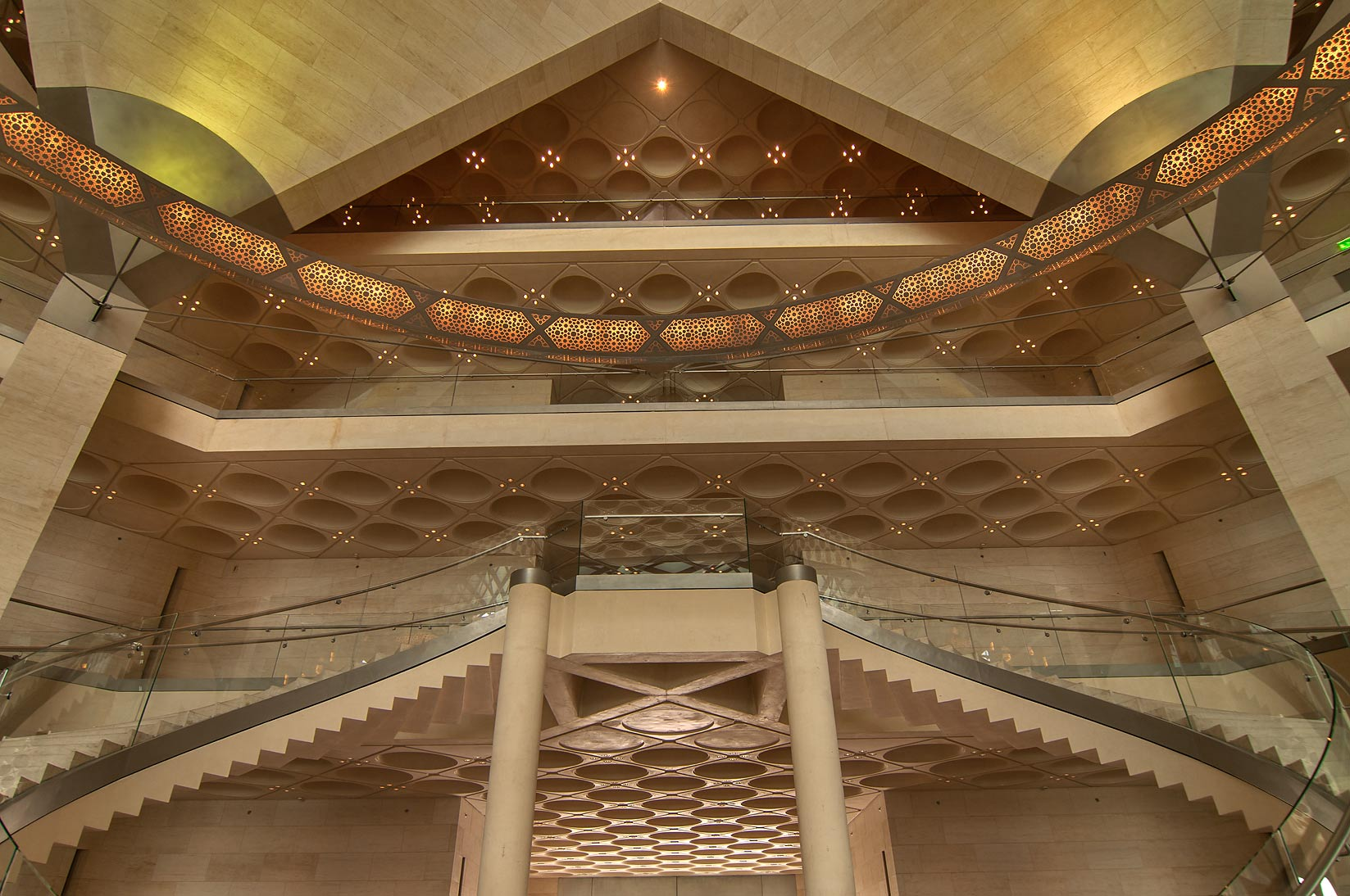 Ceiling of Museum of Islamic Art. Doha, Qatar