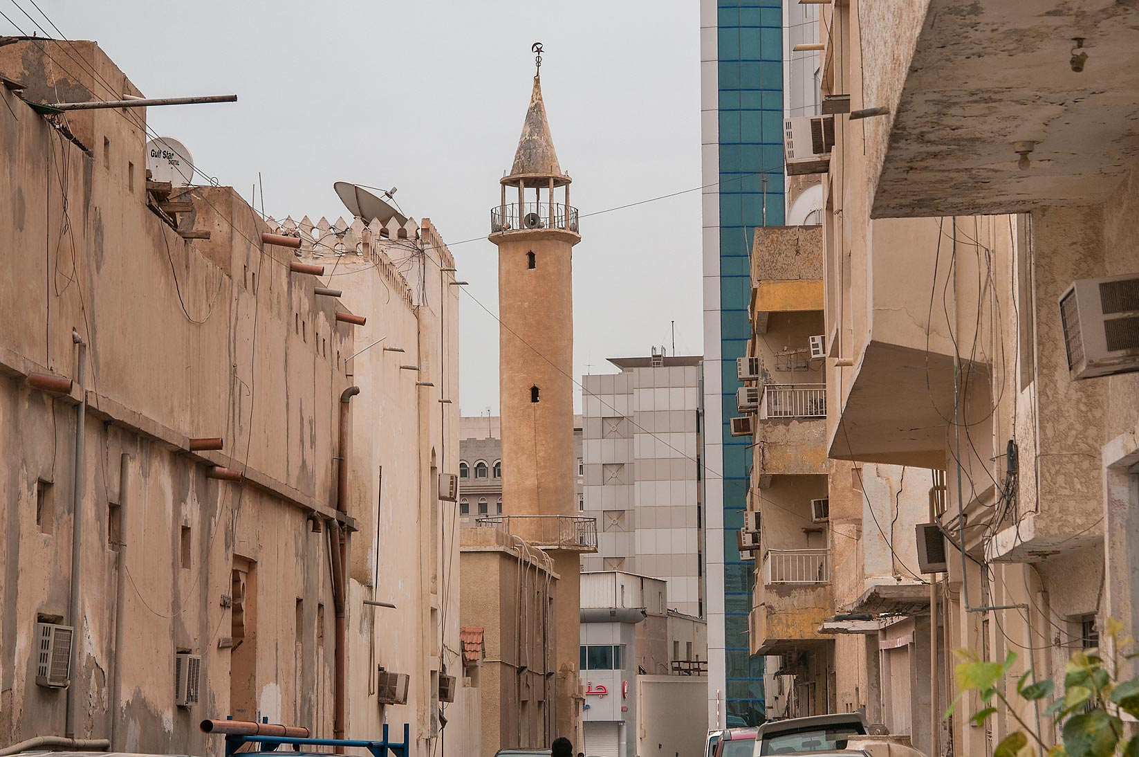 View to the east from Al Nadwa St., Musheirib area. Doha, Qatar