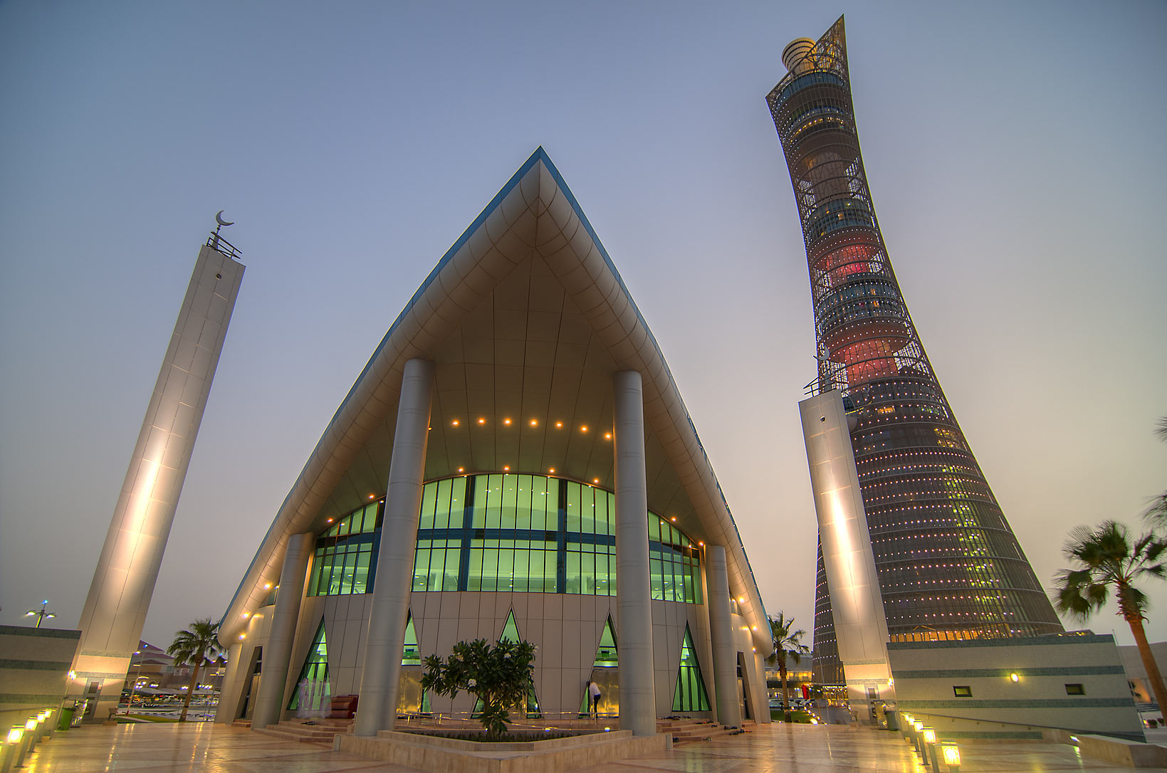 Aspire Zone Mosque and Torch Tower. Doha, Qatar