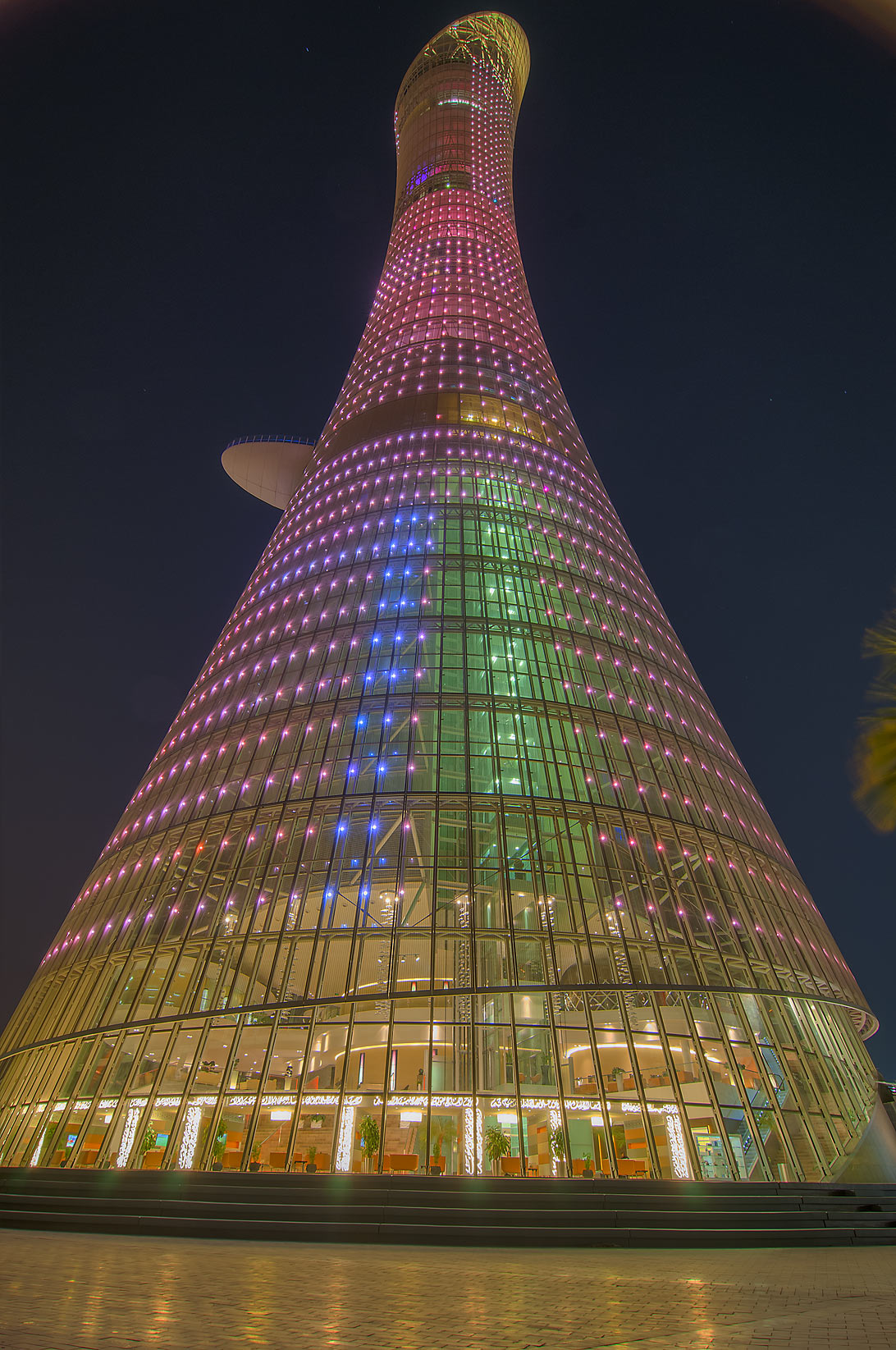 Torch Hotel in Aspire Zone at evening. Doha, Qatar