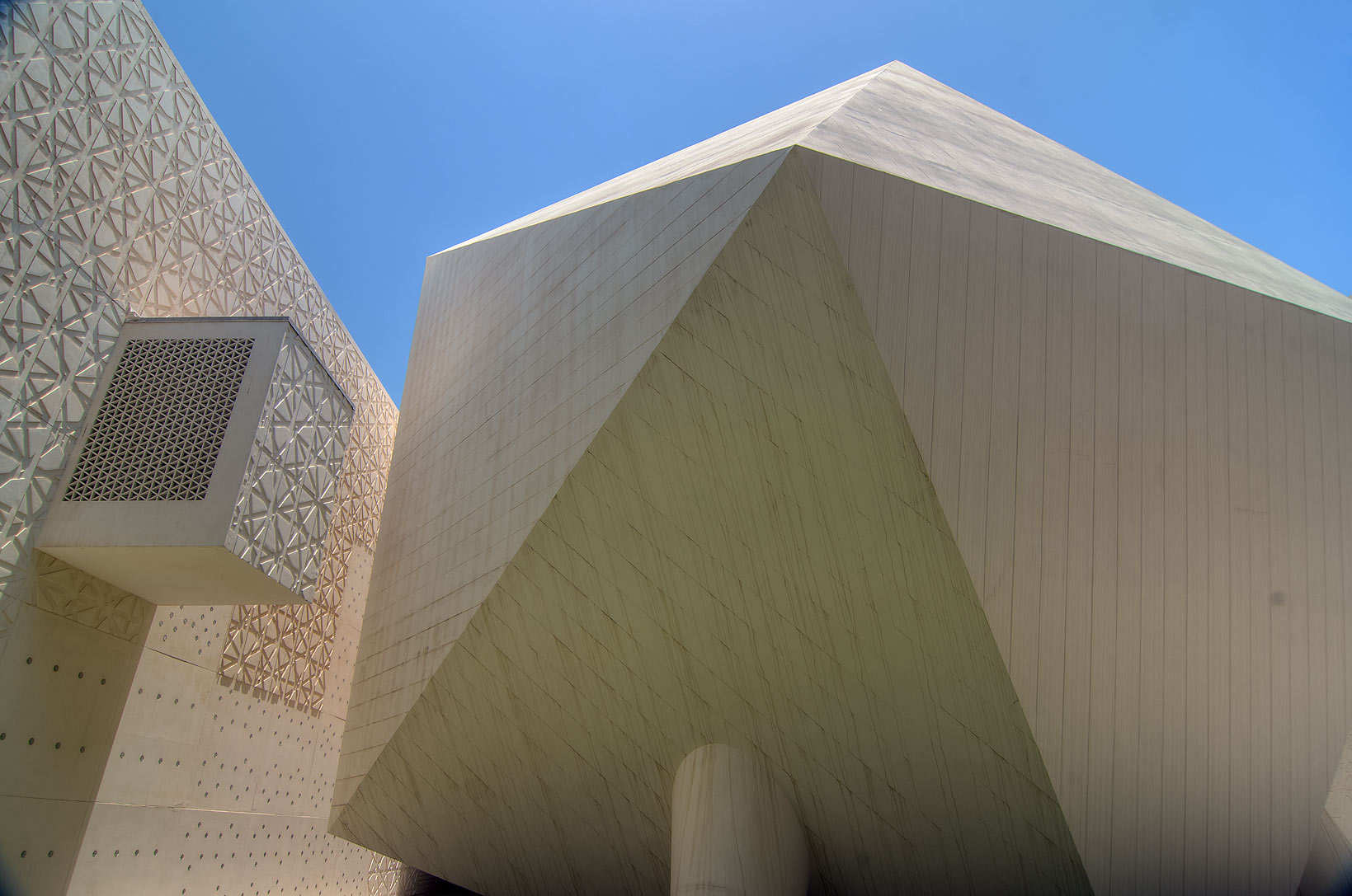 Icosahedron lecture hall of Weill Cornell Medical...in Education City campus. Doha, Qatar