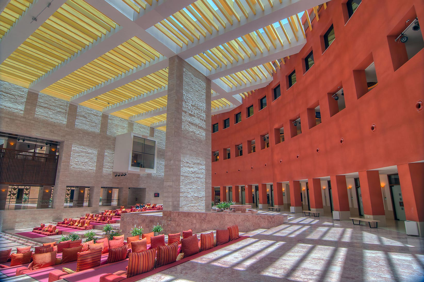 Resting Hall of Carnegie Mellon University in Education City campus. Doha, Qatar