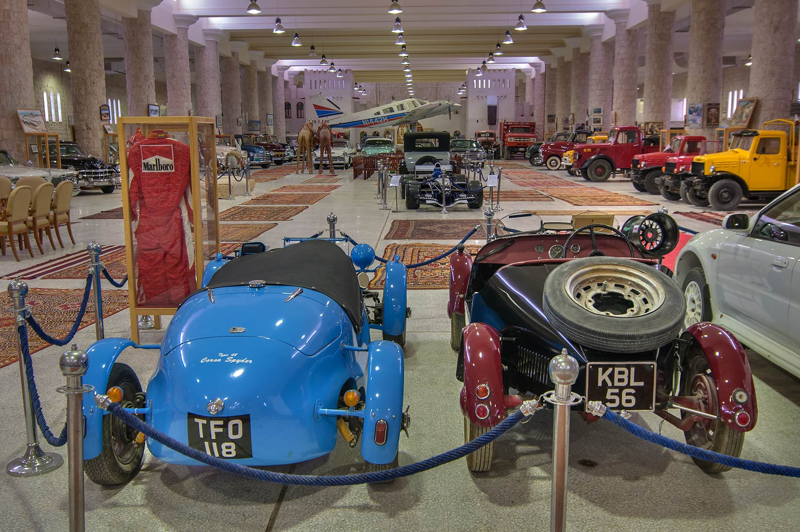 Vintage Type 48 Corsa Spyder and other sports...Museum near Al-Shahaniya. Doha, Qatar