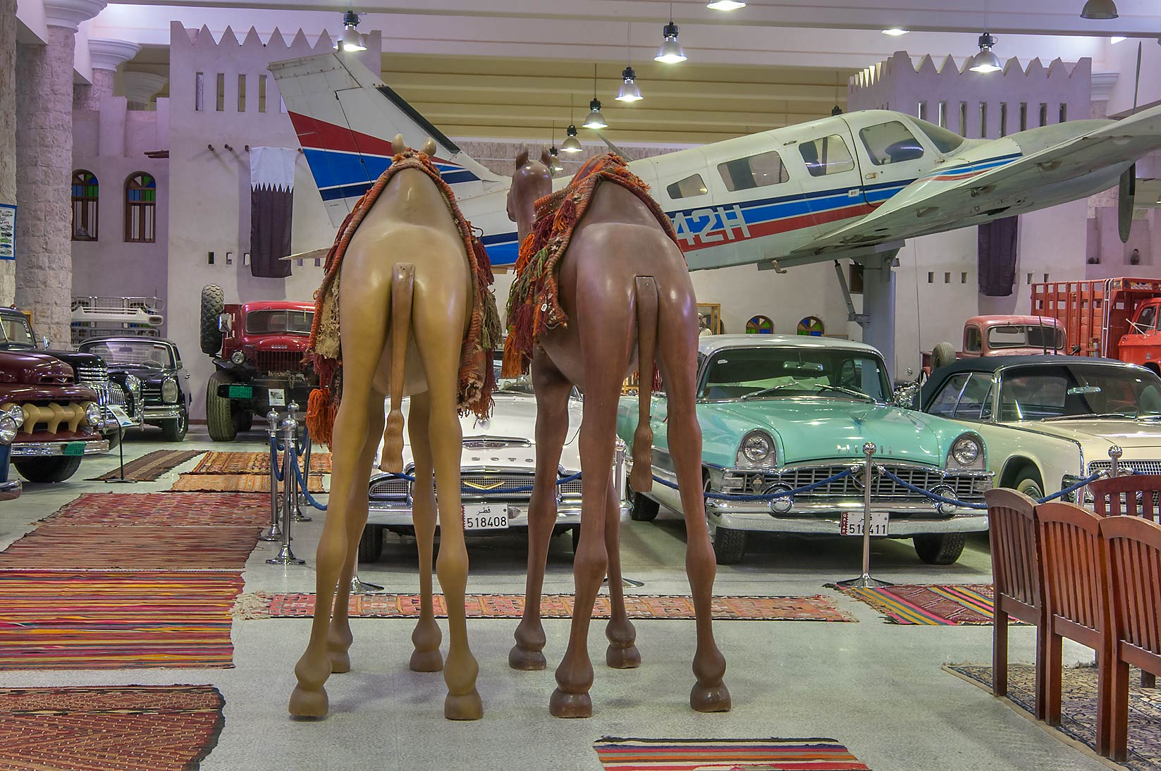Eclectic collection of transportation vehicles in...Museum near Al-Shahaniya. Doha, Qatar