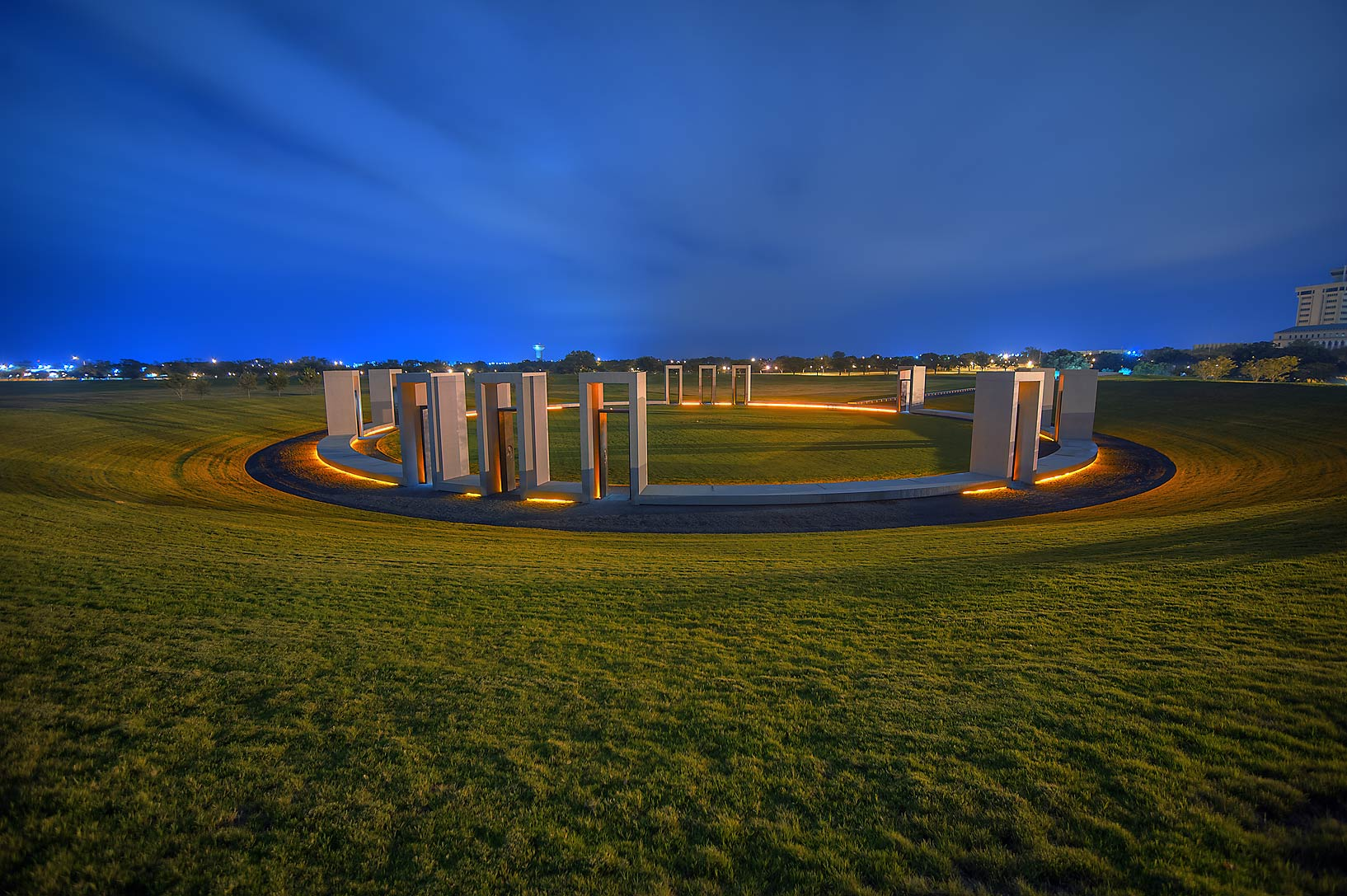 Spirit Ring of Bonfire Memorial on campus of...Ground Zero'. College Station, Texas