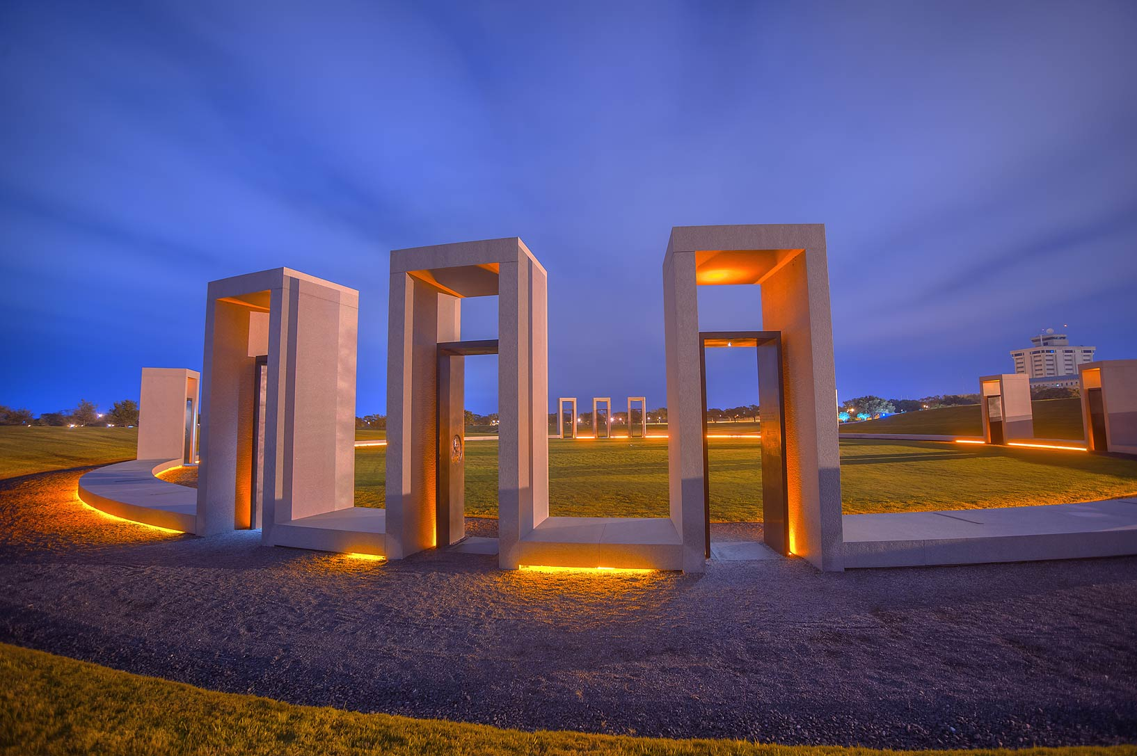 Portals of Spirit Ring in Bonfire Memorial on...M University. College Station, Texas