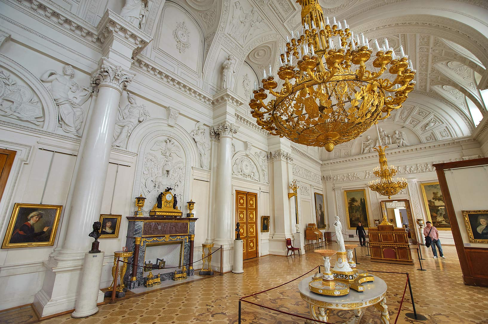 White Hall (No. 52) in Hermitage Museum. Petersburg, Russia