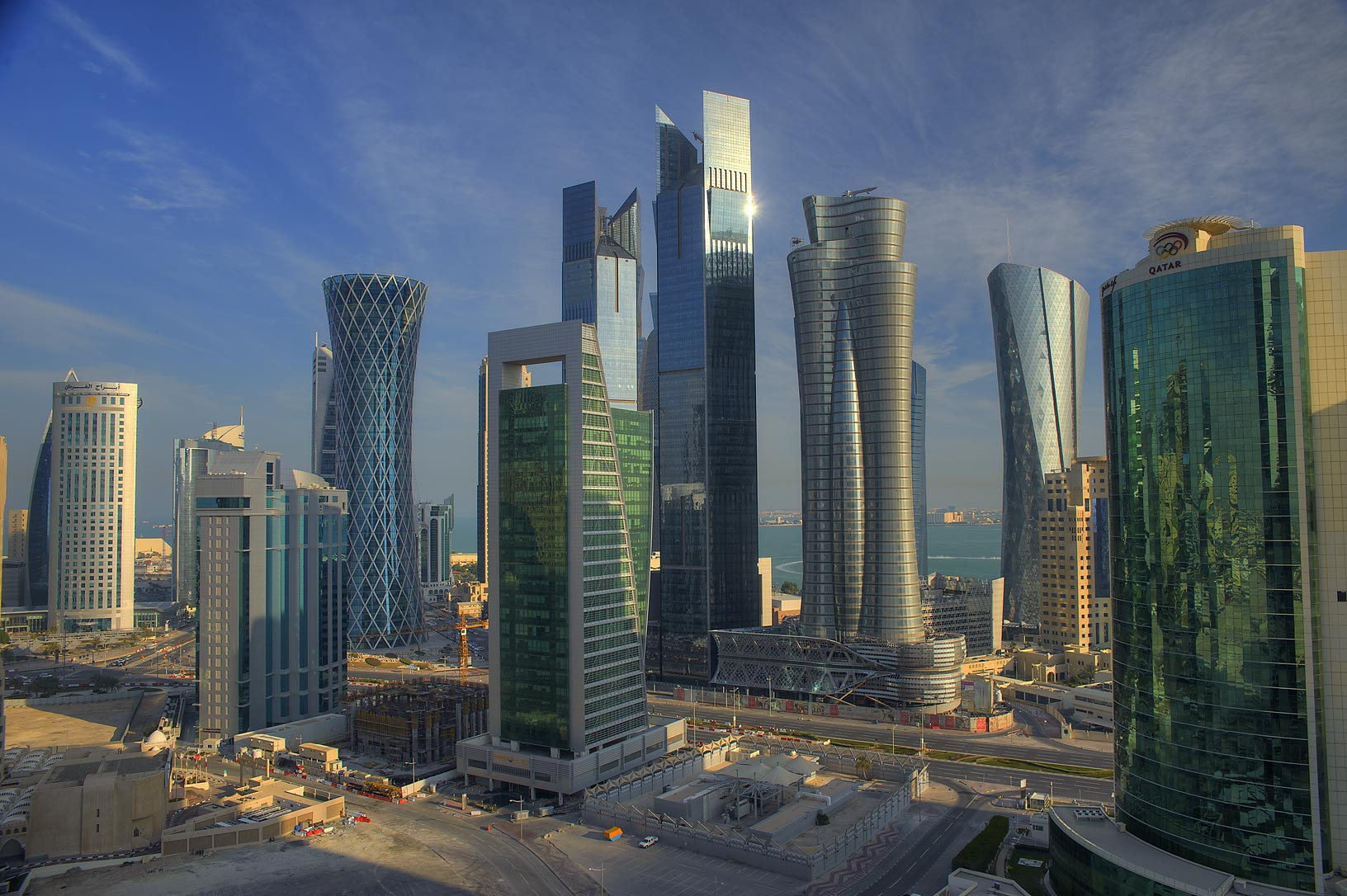 View of West Bay from Room 1703 of Dareen Tower. Doha, Qatar