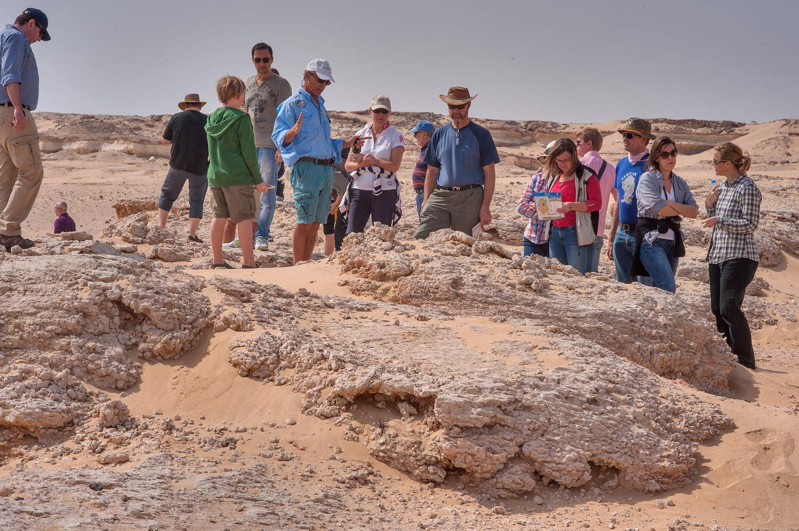 Members of the Qatar Natural History Group (QNHG...Jebel Al-Nakhsh in south-western Qatar